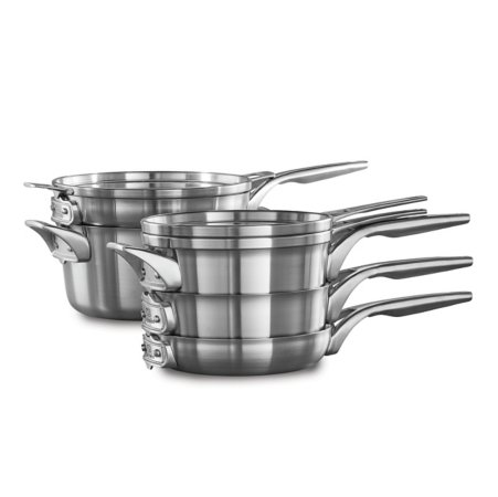 Calphalon Premier™ Space Saving Stainless Steel 8-Piece Cookware Set