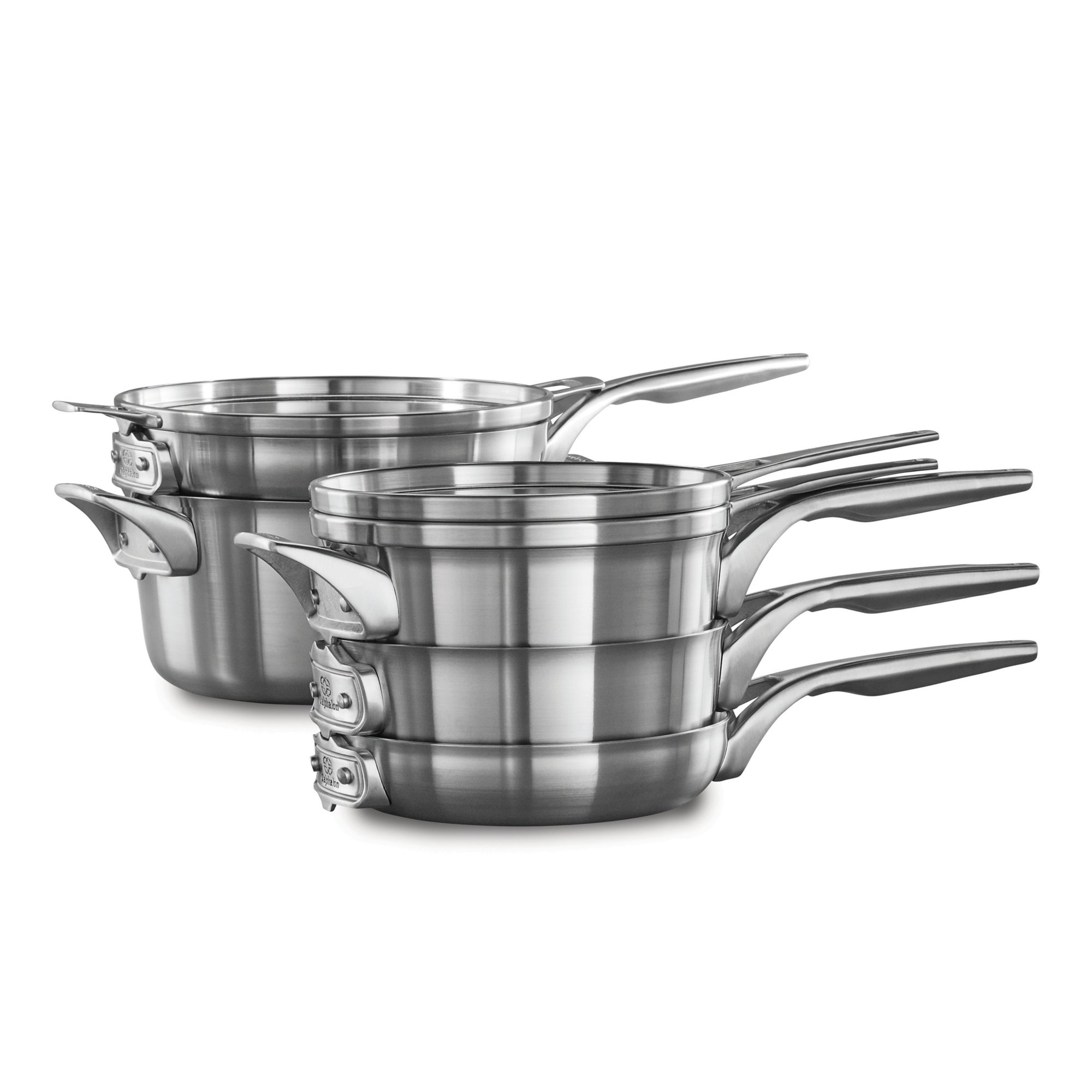 Calphalon Premier? Space Saving Stainless Steel 8-Piece Cookware Set