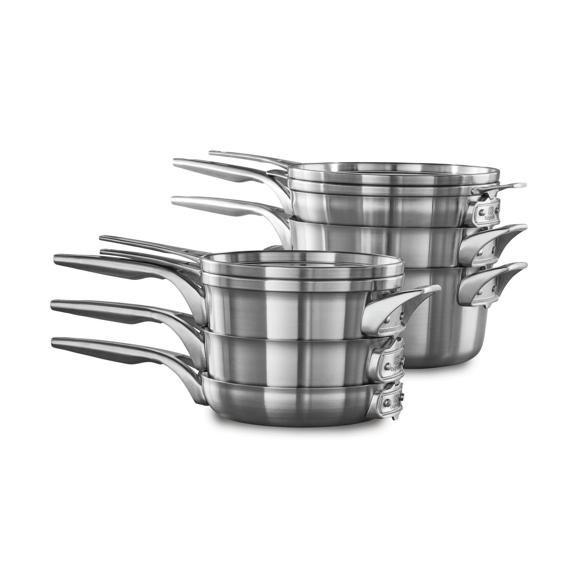 Calphalon Premier™ Space Saving Stainless Steel 10-Piece Cookware Set