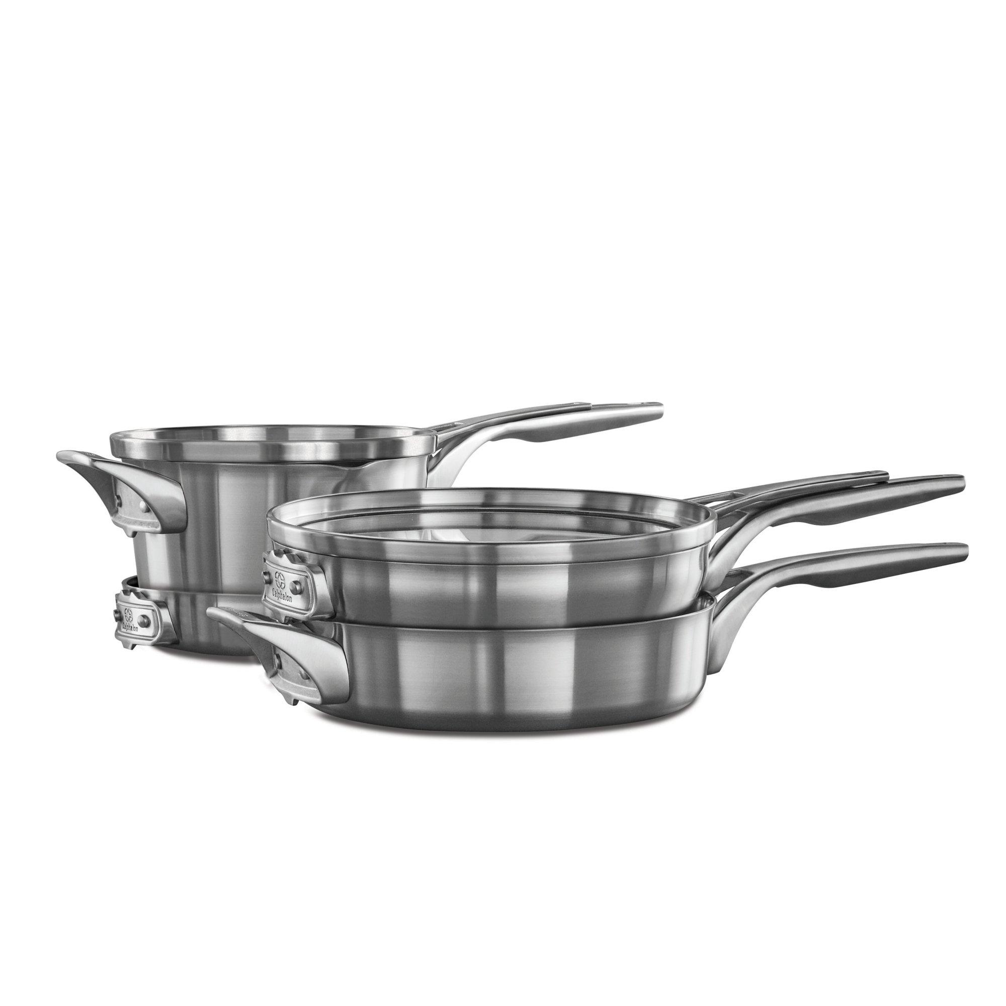 Calphalon Premier? Space Saving Stainless Steel 6-Piece Cookware Set