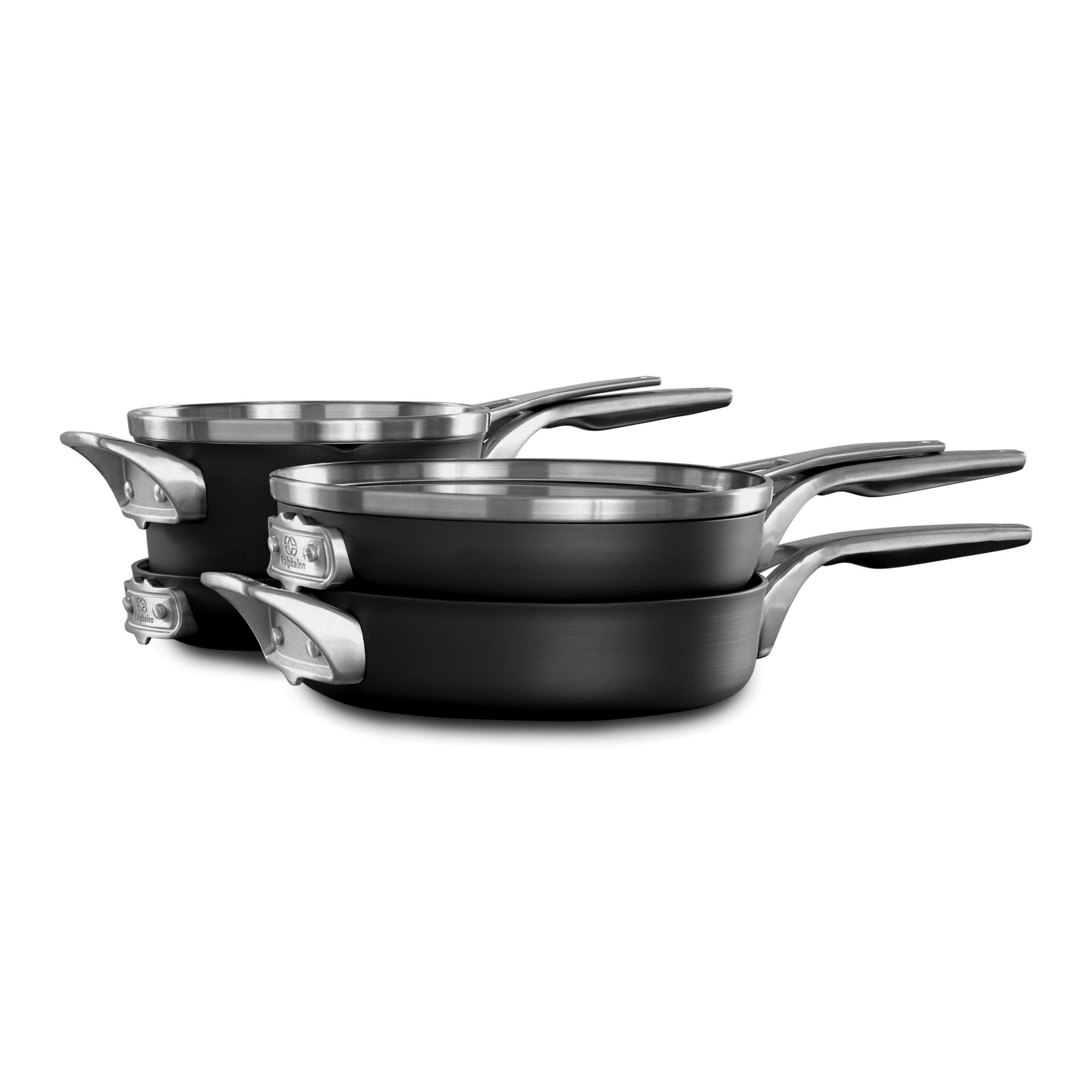 Calphalon Premier™ Space Saving Hard Anodized Nonstick 6-Piece Cookware Set