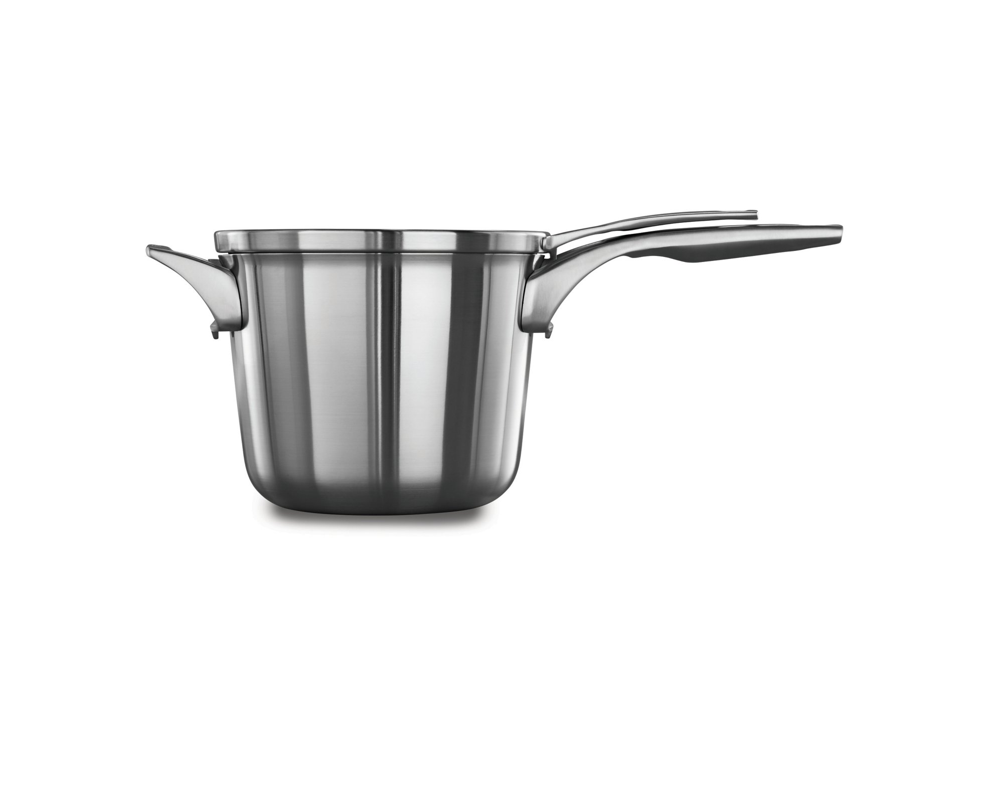 Calphalon Premier? Space Saving Stainless Steel 4.5 qt. Sauce Pan with Cover
