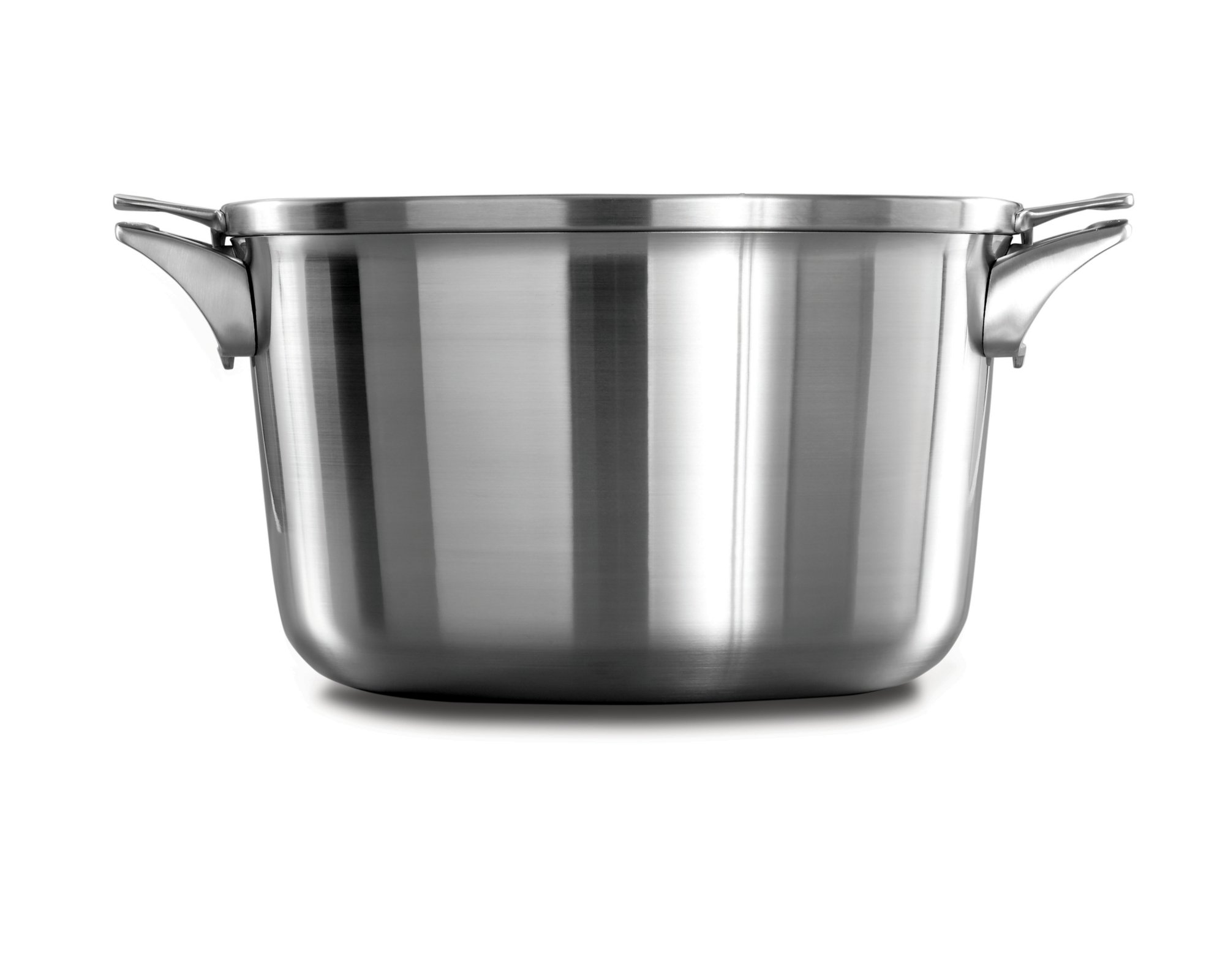 Calphalon Premier? Space Saving Stainless Steel 12 qt. Stock Pot with Cover