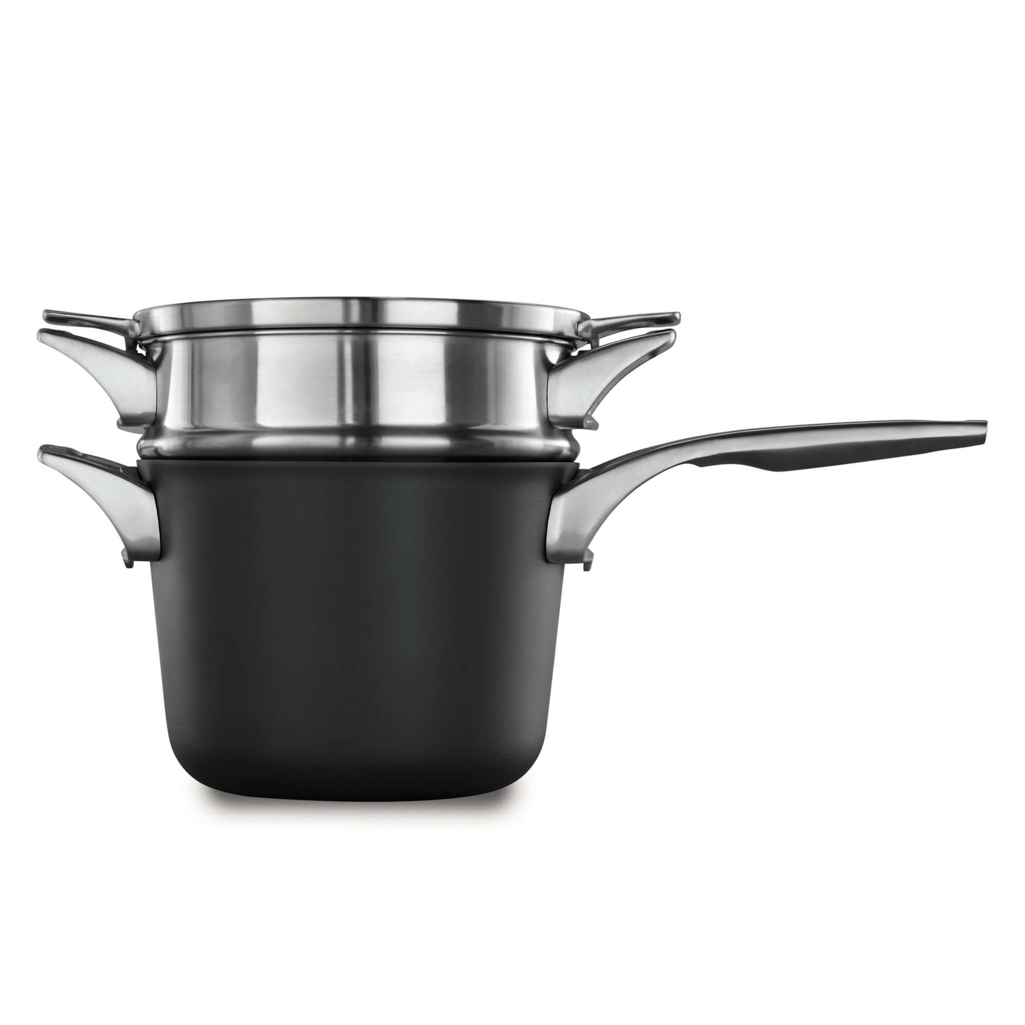 Calphalon Premier? Space Saving Hard Anodized Nonstick 4.5 qt. Sauce Pan with Double Boiler
