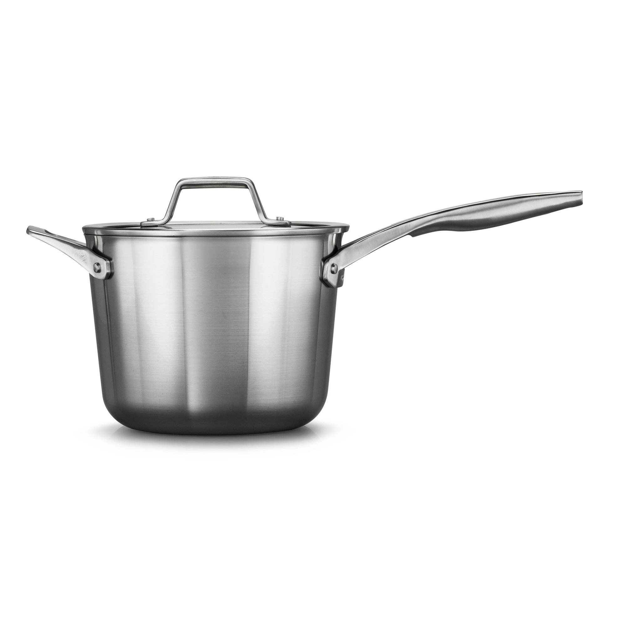 Calphalon Premier Stainless Steel 4.5-Quart Saucepan with Cover