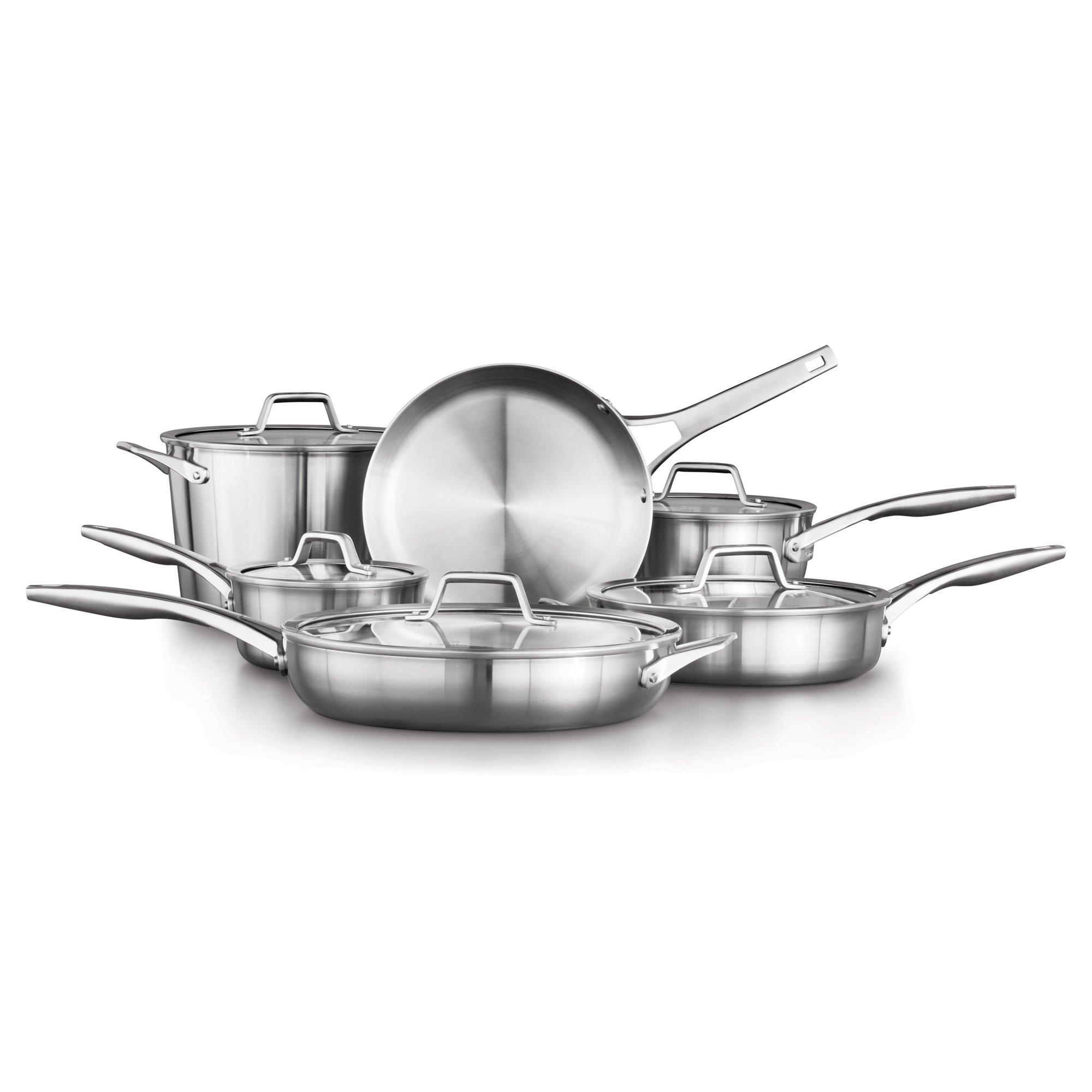 Calphalon Premier Stainless Steel 11-Piece Cookware Set