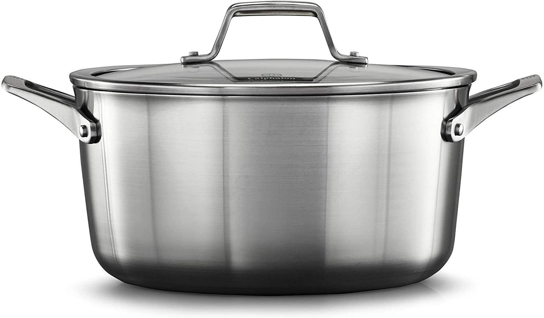 Calphalon? Premier? Stainless Steel 6-Qt Stock Pot