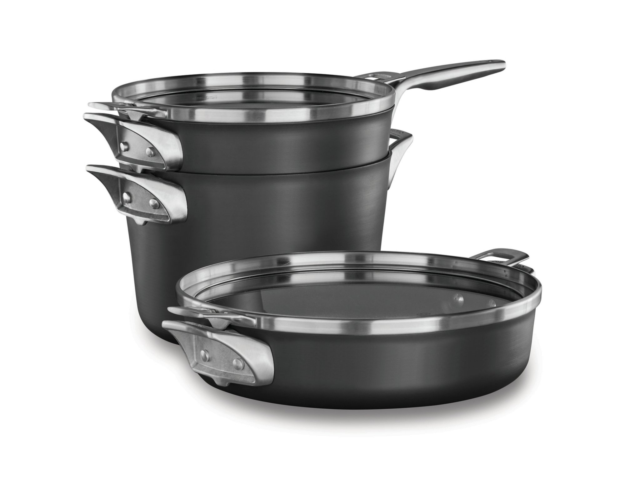 Calphalon Premier? Space Saving Hard Anodized Nonstick Supper Club Set