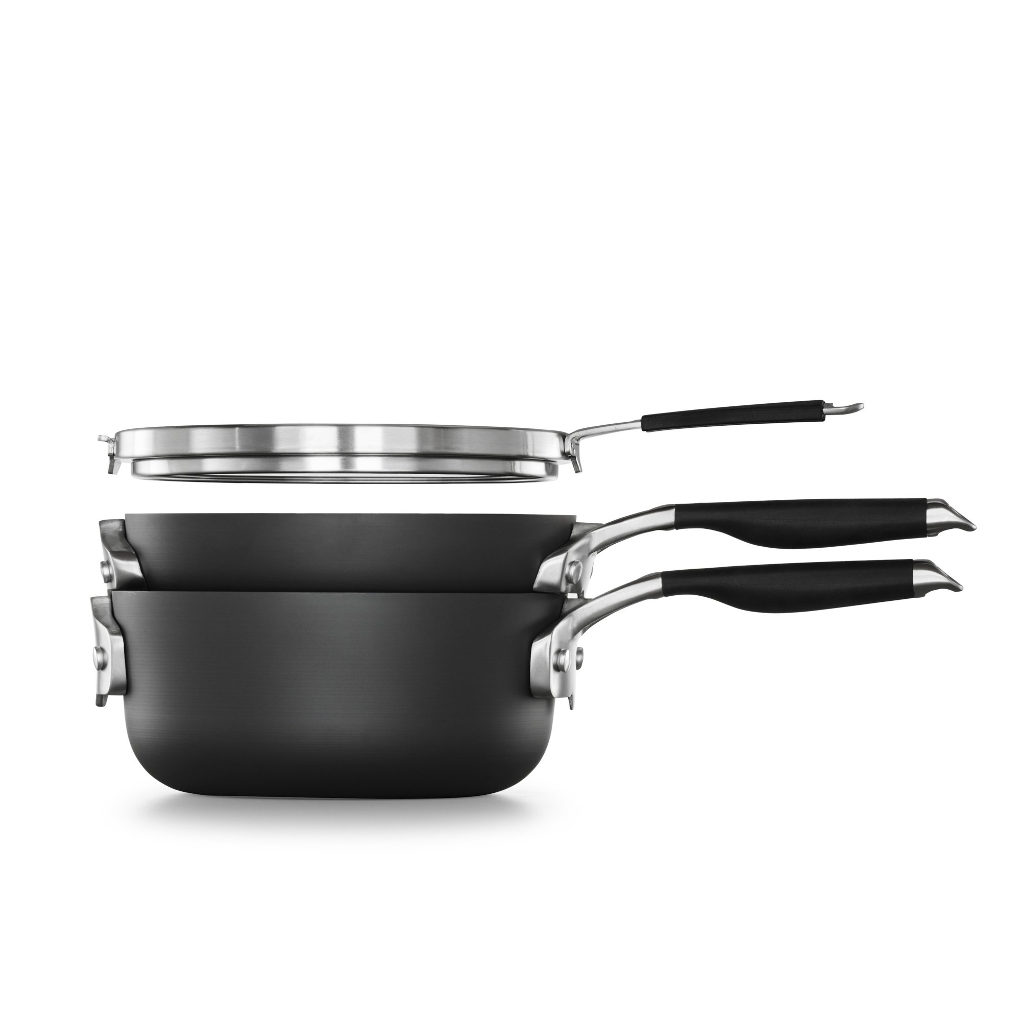 Select by Calphalon Space Saving Hard-Anodized Nonstick 3-Piece 8-Inch Cookware Set