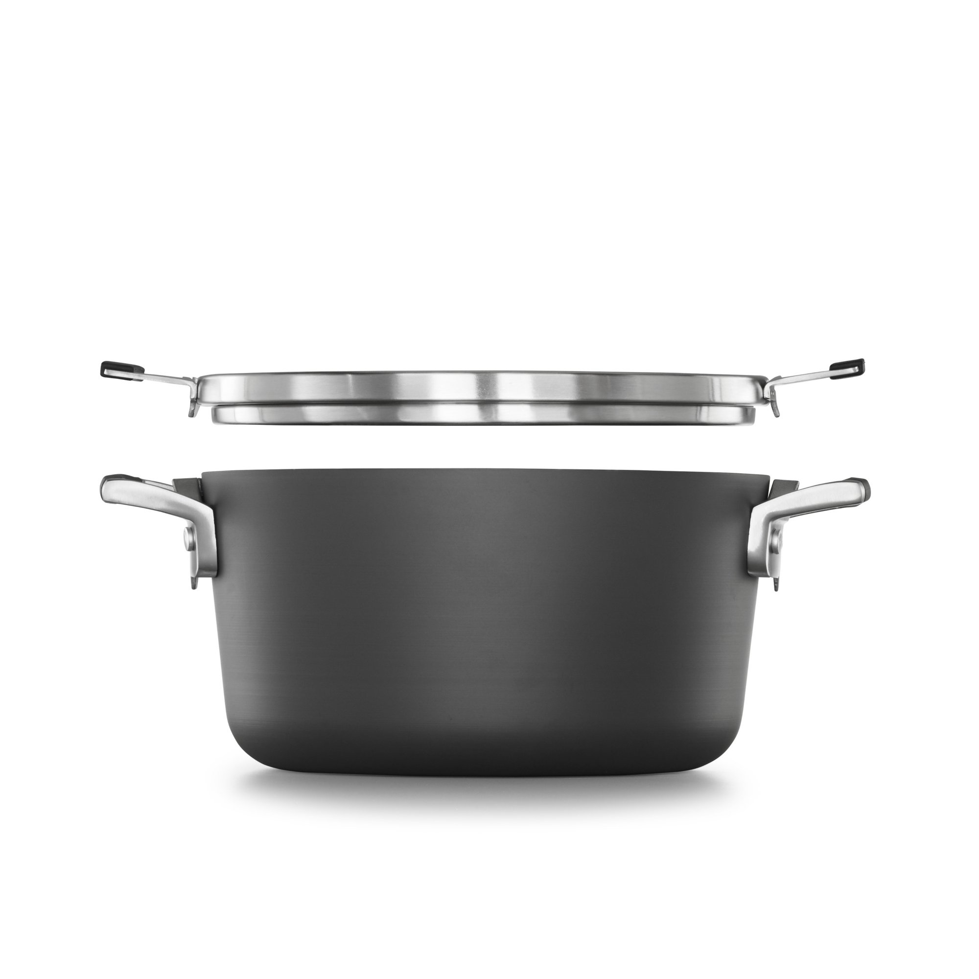 Select by Calphalon Space Saving Hard-Anodized Nonstick 6-Quart Stock Pot with Cover