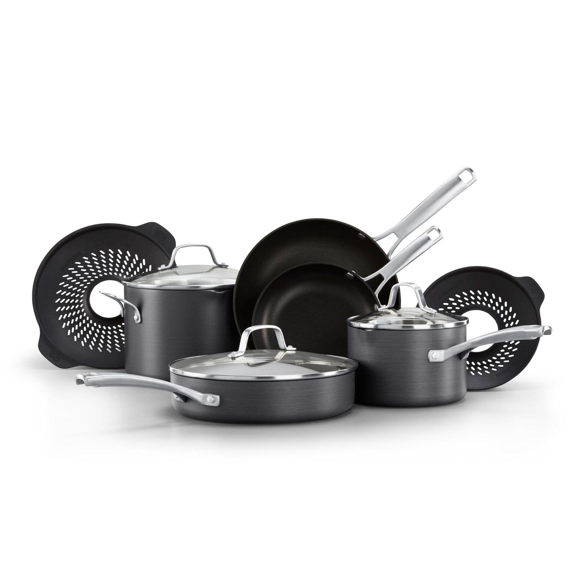 Calphalon Classic™ Nonstick 10-Piece Cookware Set with No-Boil-Over Inserts
