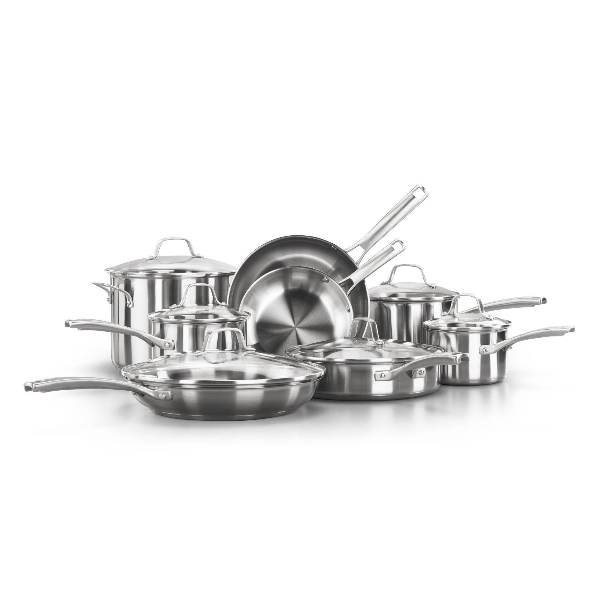 Calphalon Classic? Stainless Steel 14-Piece Cookware Set