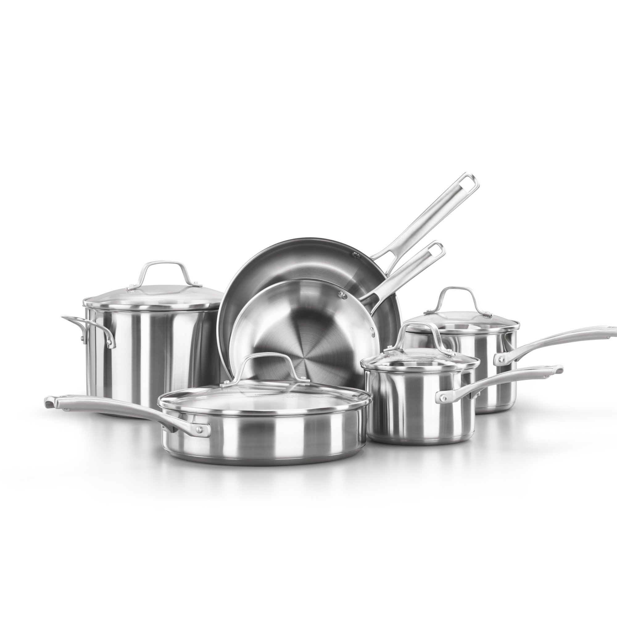 Calphalon Classic? Stainless Steel 10-Piece Cookware Set