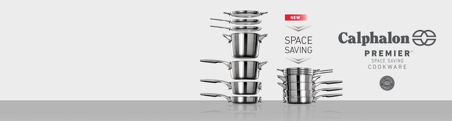 New Calphalon Premier Space Saving Cookware