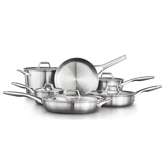 Calphalon Premier Stainless Steel 13 Piece Cookware Set