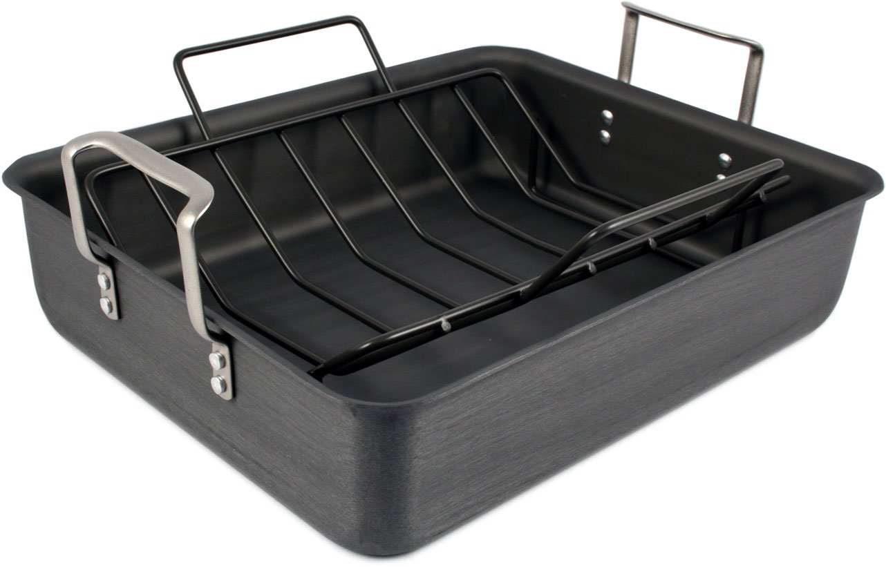 Calphalon Classic Hard-Anodized 16x13-in. Roaster with Nonstick Rack
