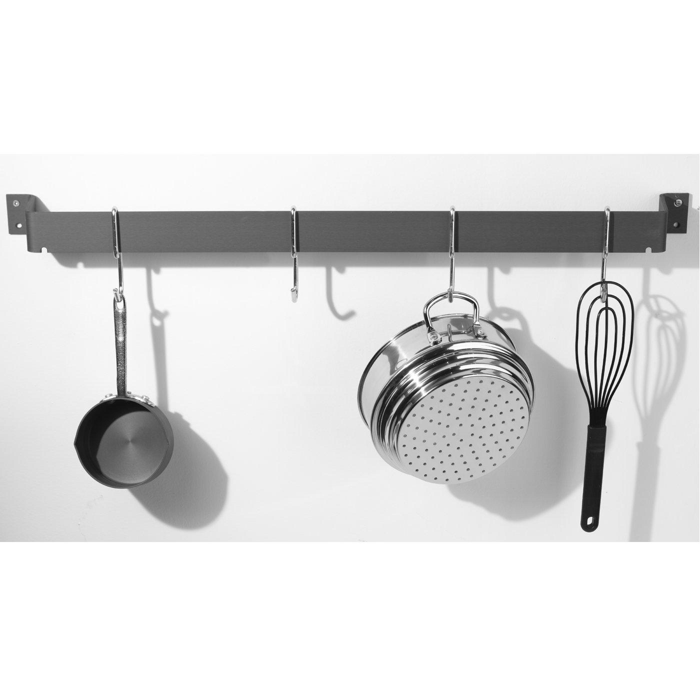 calphalon  straight wall pot rack hardanodized - add instant storage to your kitchen the calphalon hardanodized pot rack