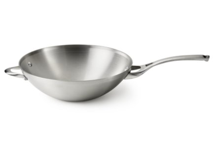 Calphalon Contemporary Stainless Flat Bottom Wok