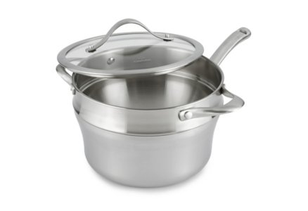 Calphalon Contemporary Stainless 2.5-qt. Sauce Pan with Double Boiler Insert