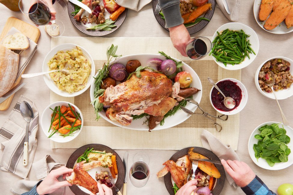 Thanksgiving turkey dinner and sides
