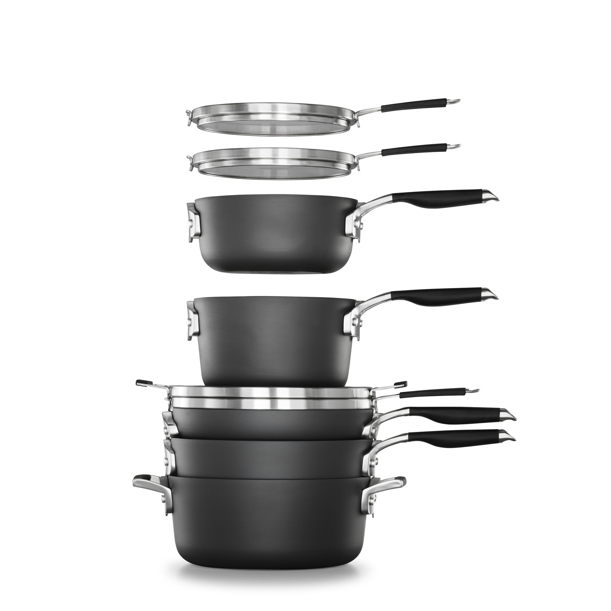 Select By Calphalon Space Saving Hard-Anodized Nonstick 14-Piece Cookware & Utensil Set