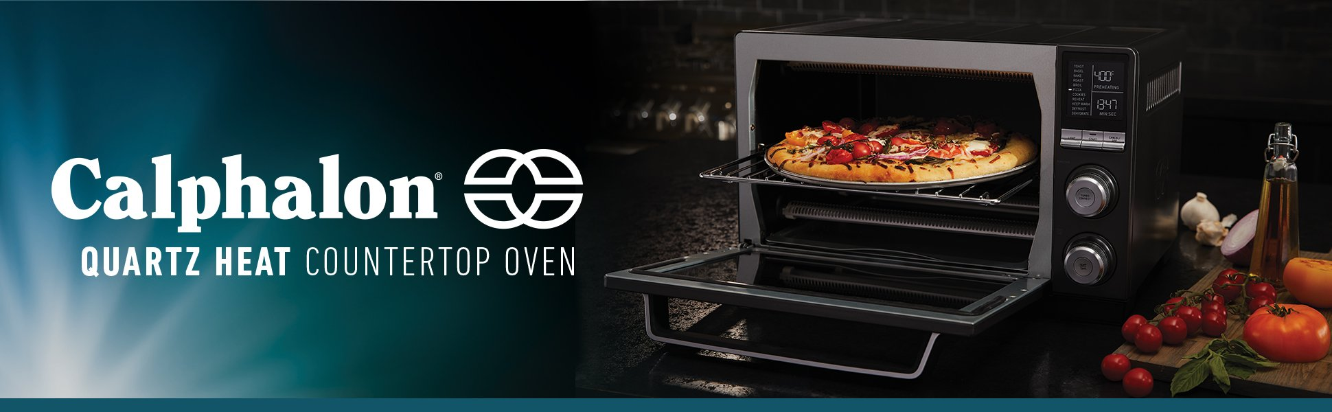 Calphalon Quartz Heat Countertop Oven, Dark Stainless Steel