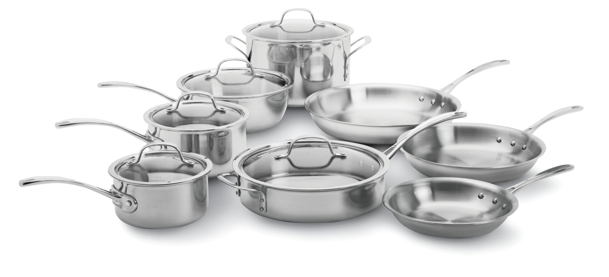 Calphalon Tri-Ply Stainless Steel 13-pc. Cookware Set