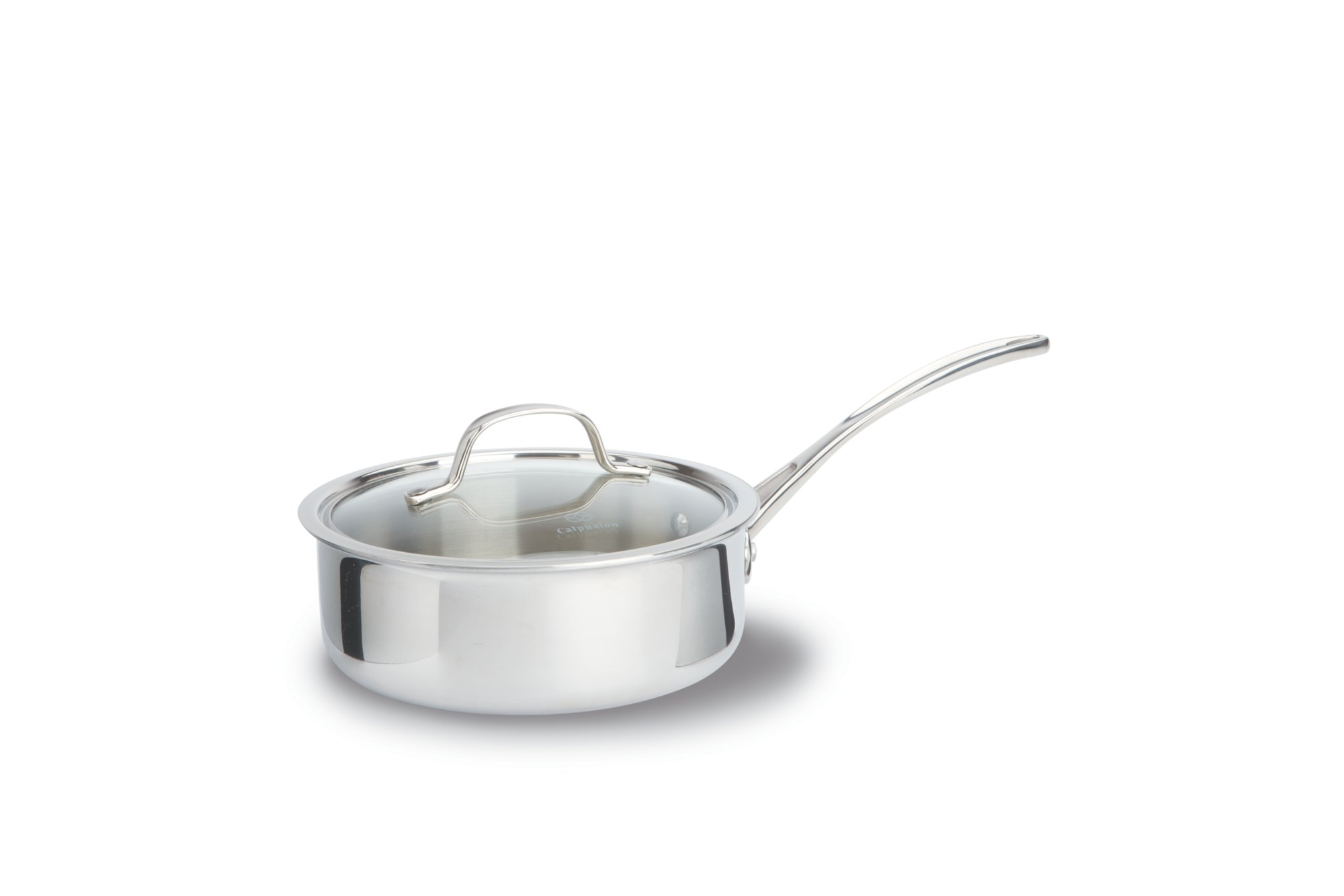 Calphalon Tri-Ply Stainless Steel 2.5-qt. Shallow Sauce Pan with Cover