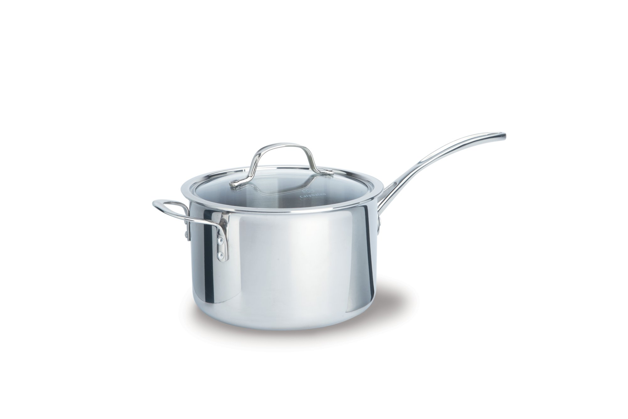 Calphalon Tri-Ply Stainless Steel 4.5-qt. Sauce Pan with Cover