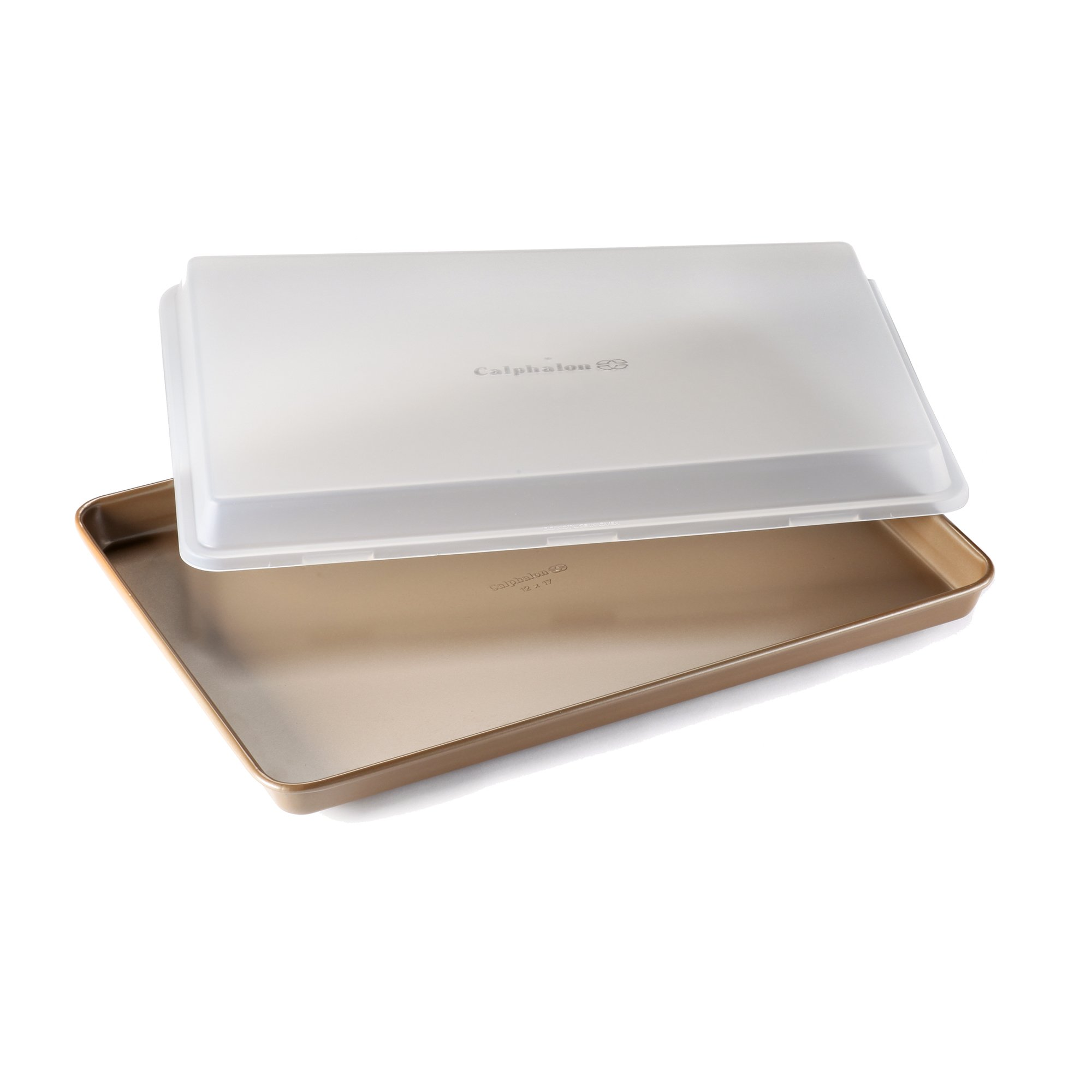 Calphalon Nonstick Bakeware 12 x 17-Inch Baking Sheet with Cover, Toffee