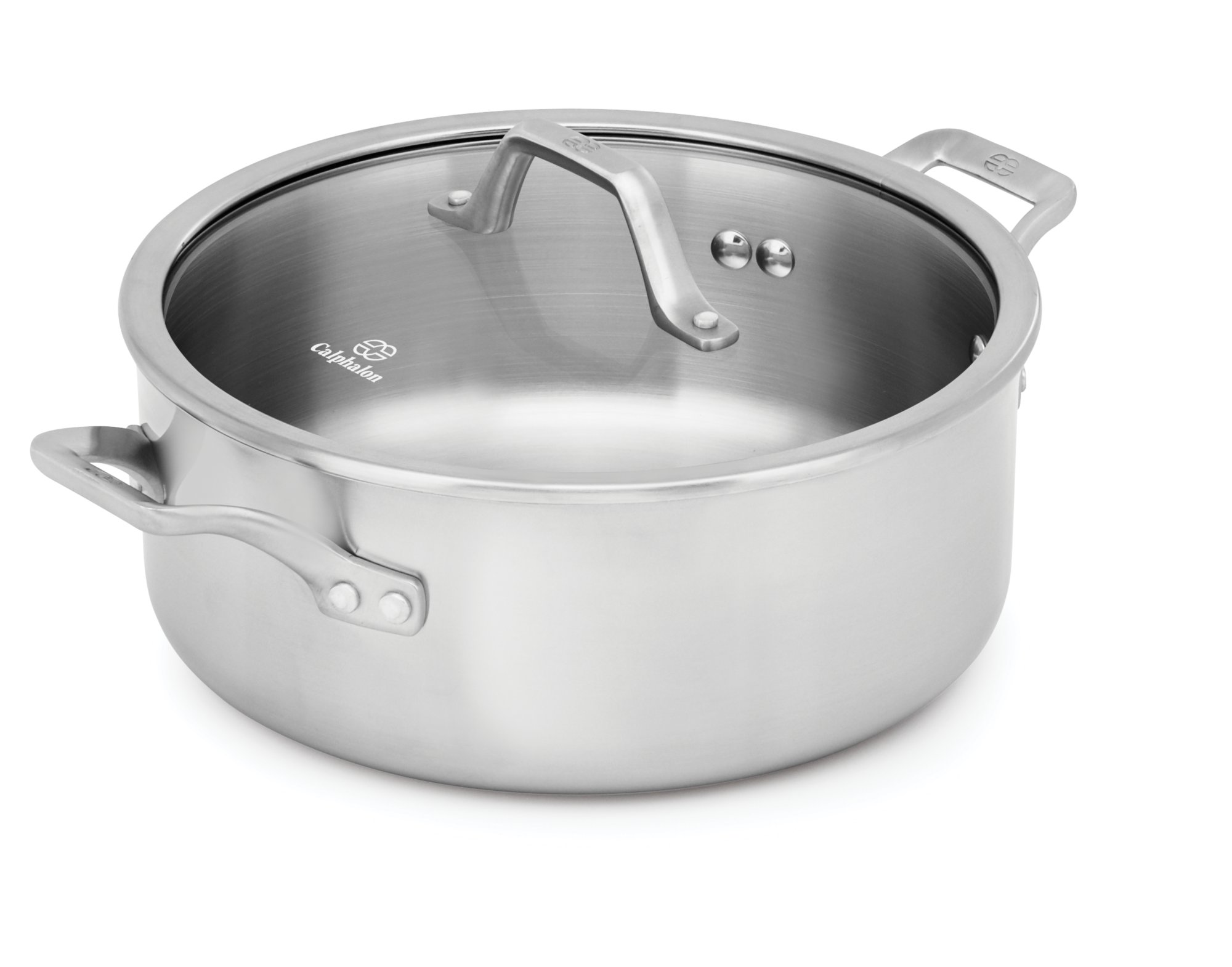 Calphalon Signature™ Stainless Steel 5-qt. Dutch Oven with Cover