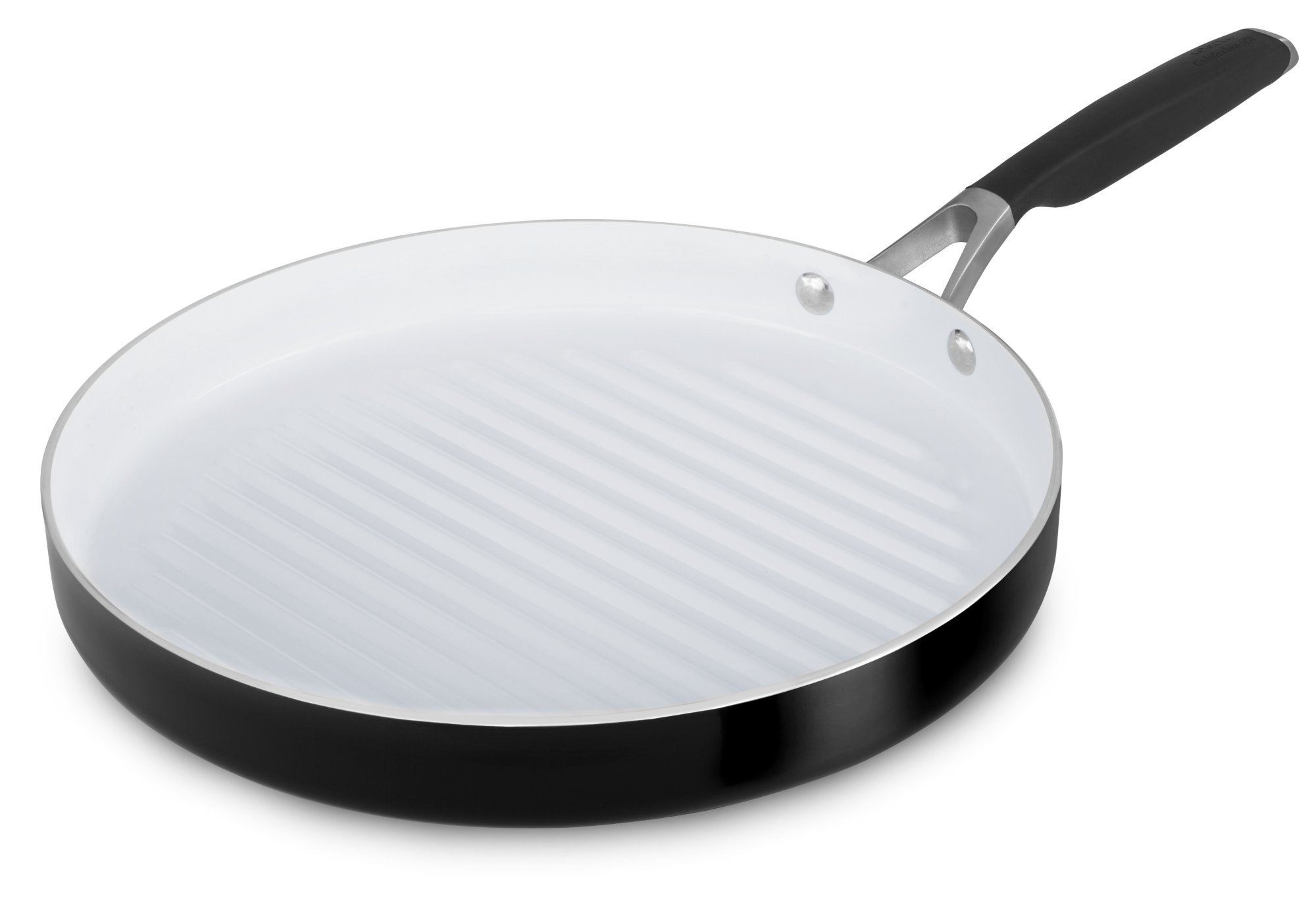 Select by Calphalon Ceramic Nonstick 12-Inch Round Grill Pan