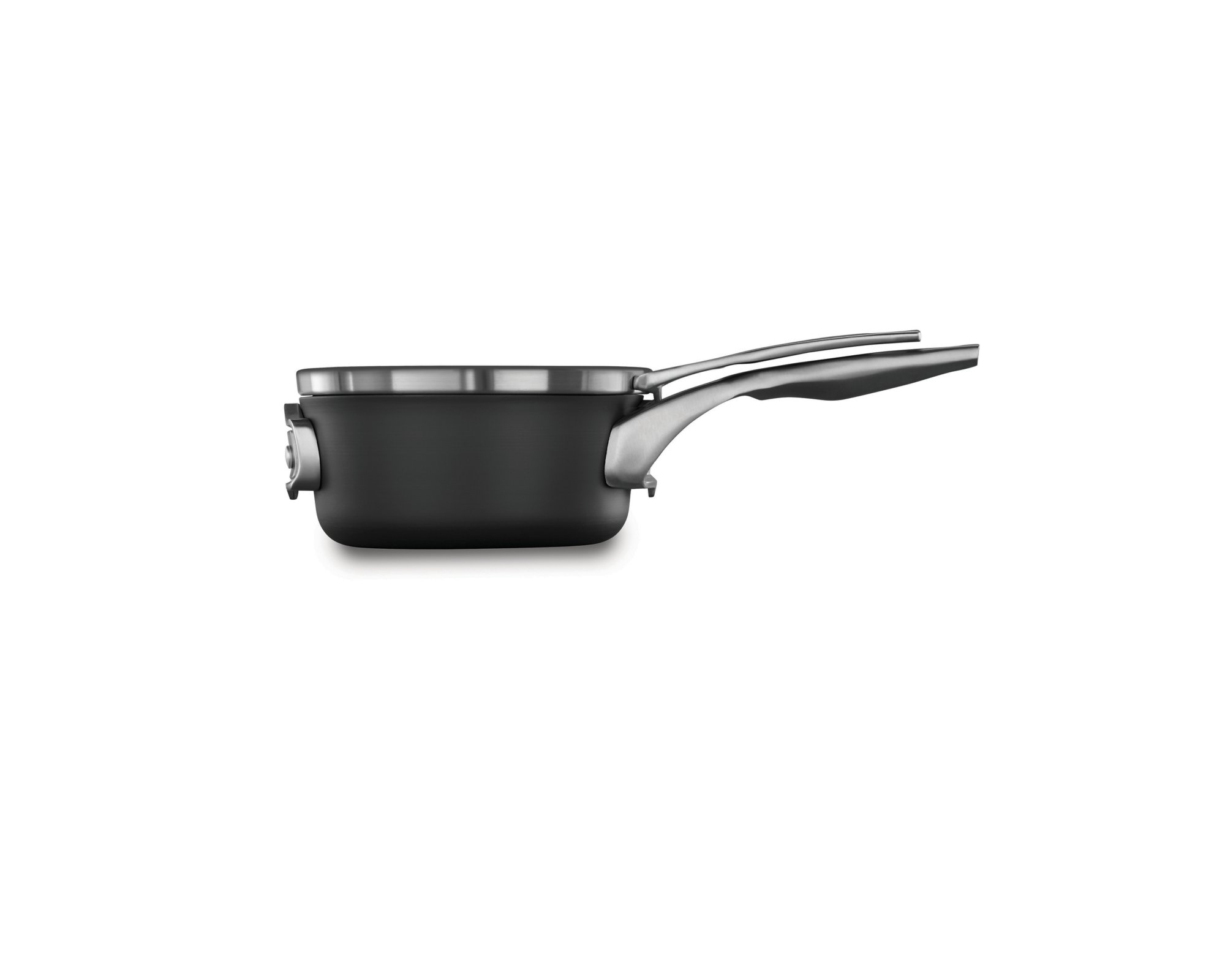 Calphalon Premier Space-Saving Hard-Anodized Nonstick Cookware, 1.5-Quart Saucepan with Cover