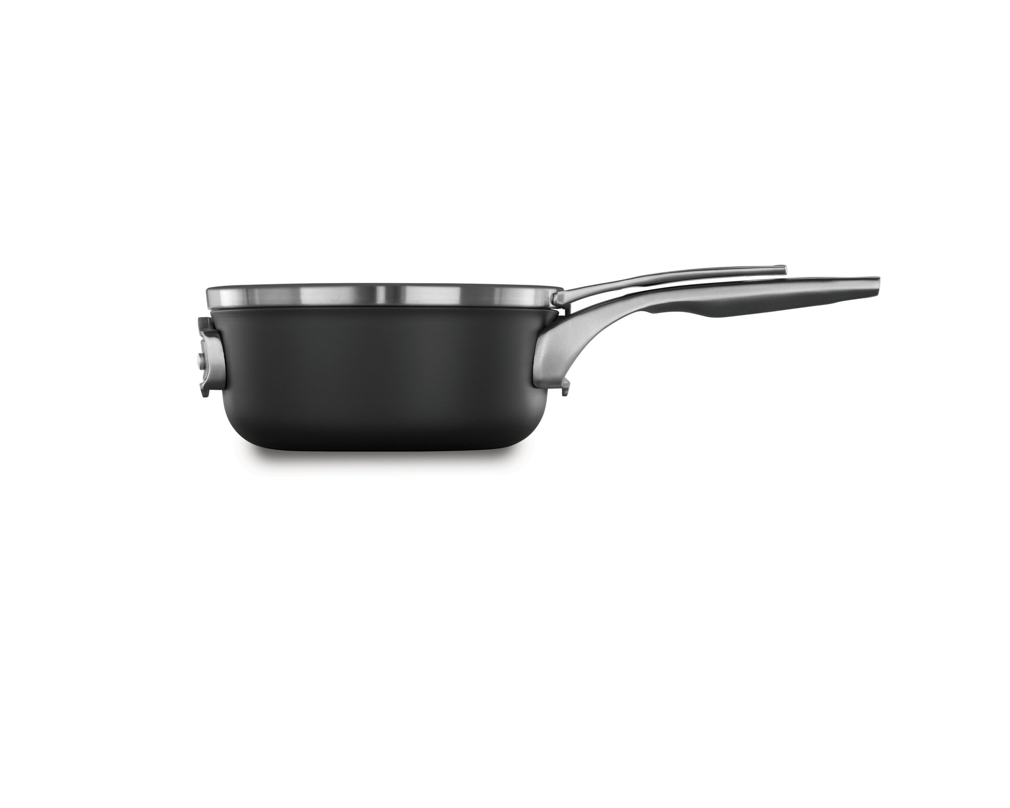 Calphalon Premier Space-Saving Hard-Anodized Nonstick Cookware, 2.5-Quart Sauce Pan with Cover