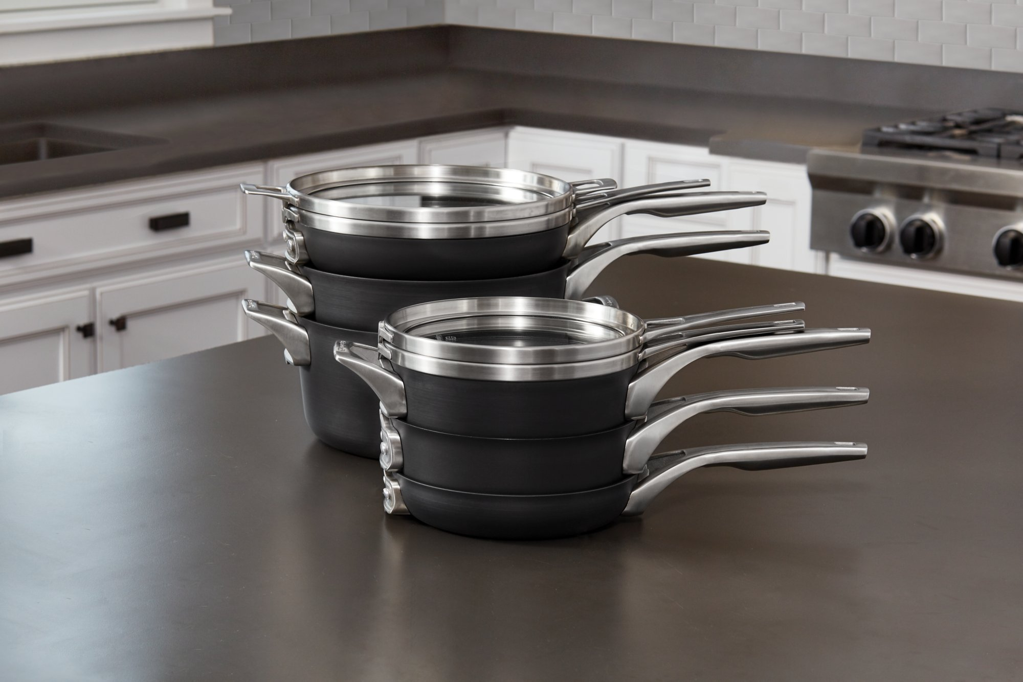 Calphalon Premier Space Saving Hard Anodized Nonstick 3