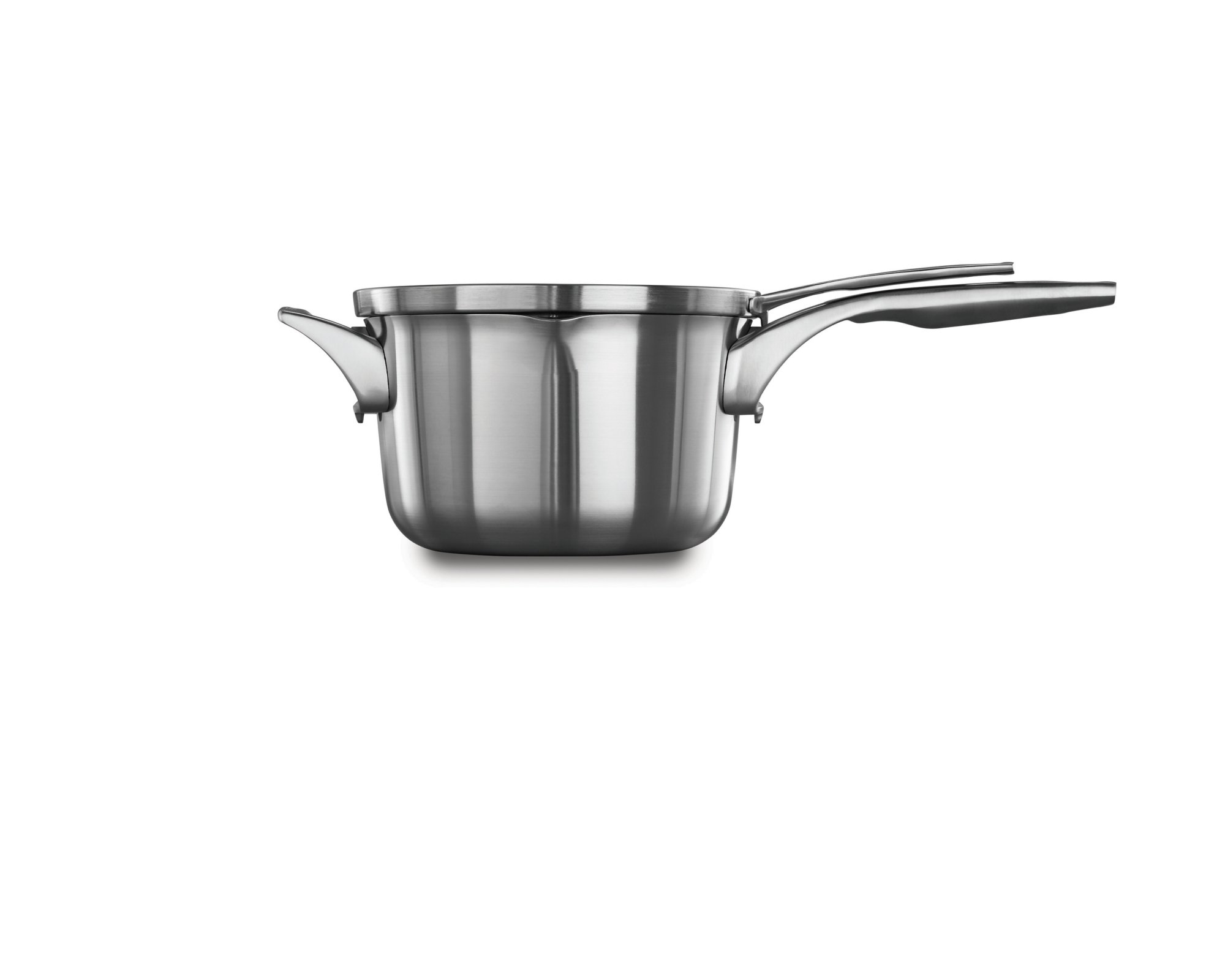 Calphalon Premier™ Space Saving Stainless Steel 3.5 qt. Pour & Strain Sauce Pan