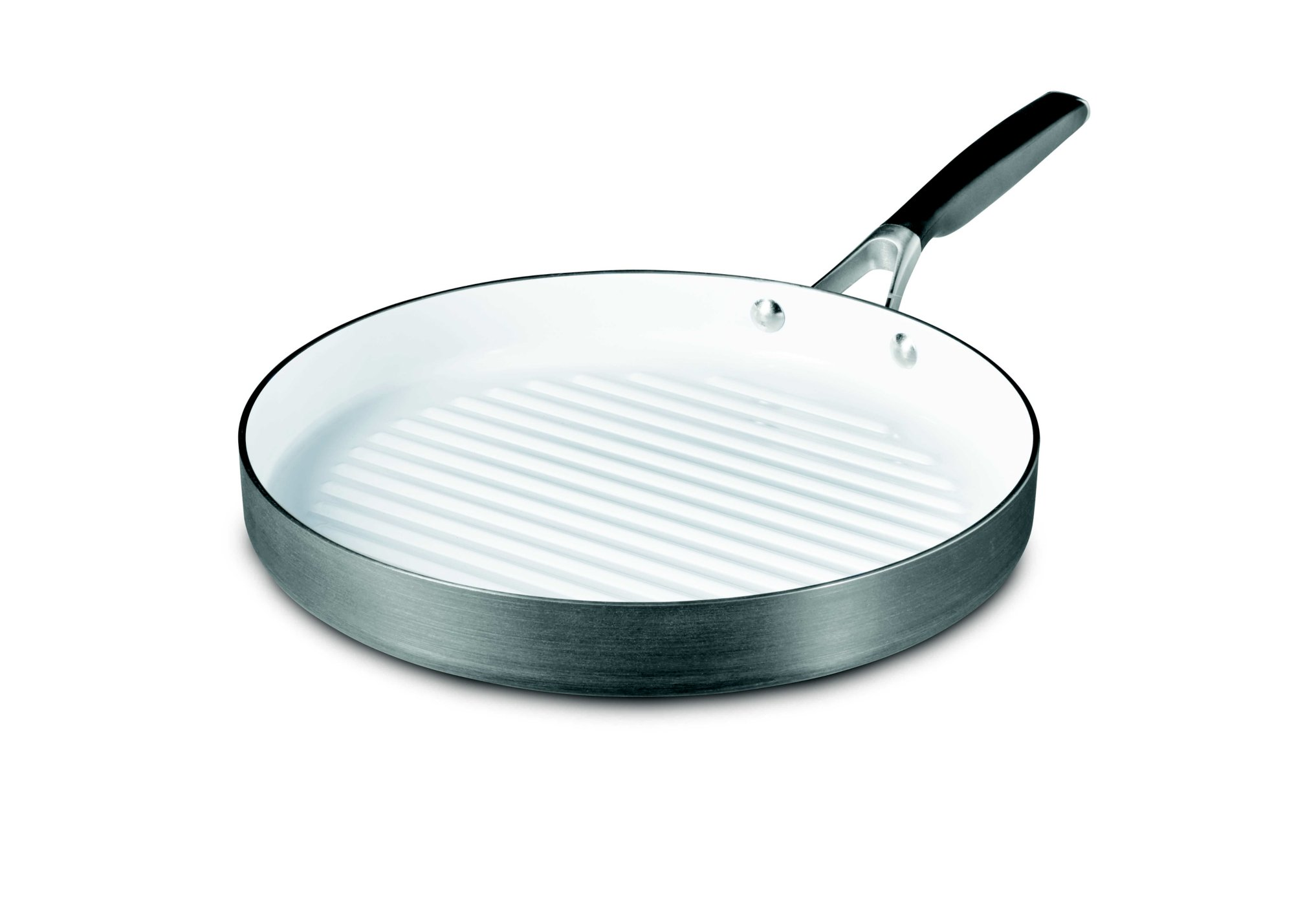 Select by Calphalon Hard-Anodized Ceramic Nonstick 12-Inch Round Grill Pan