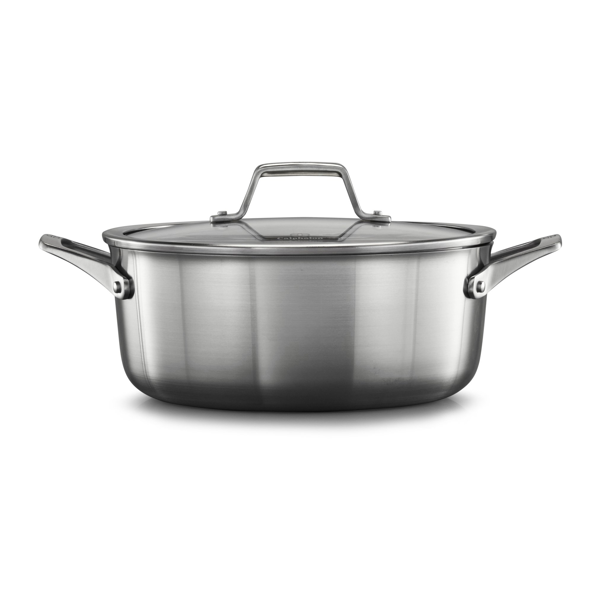 Calphalon Premier Stainless Steel 5-Quart Dutch Oven with Cover