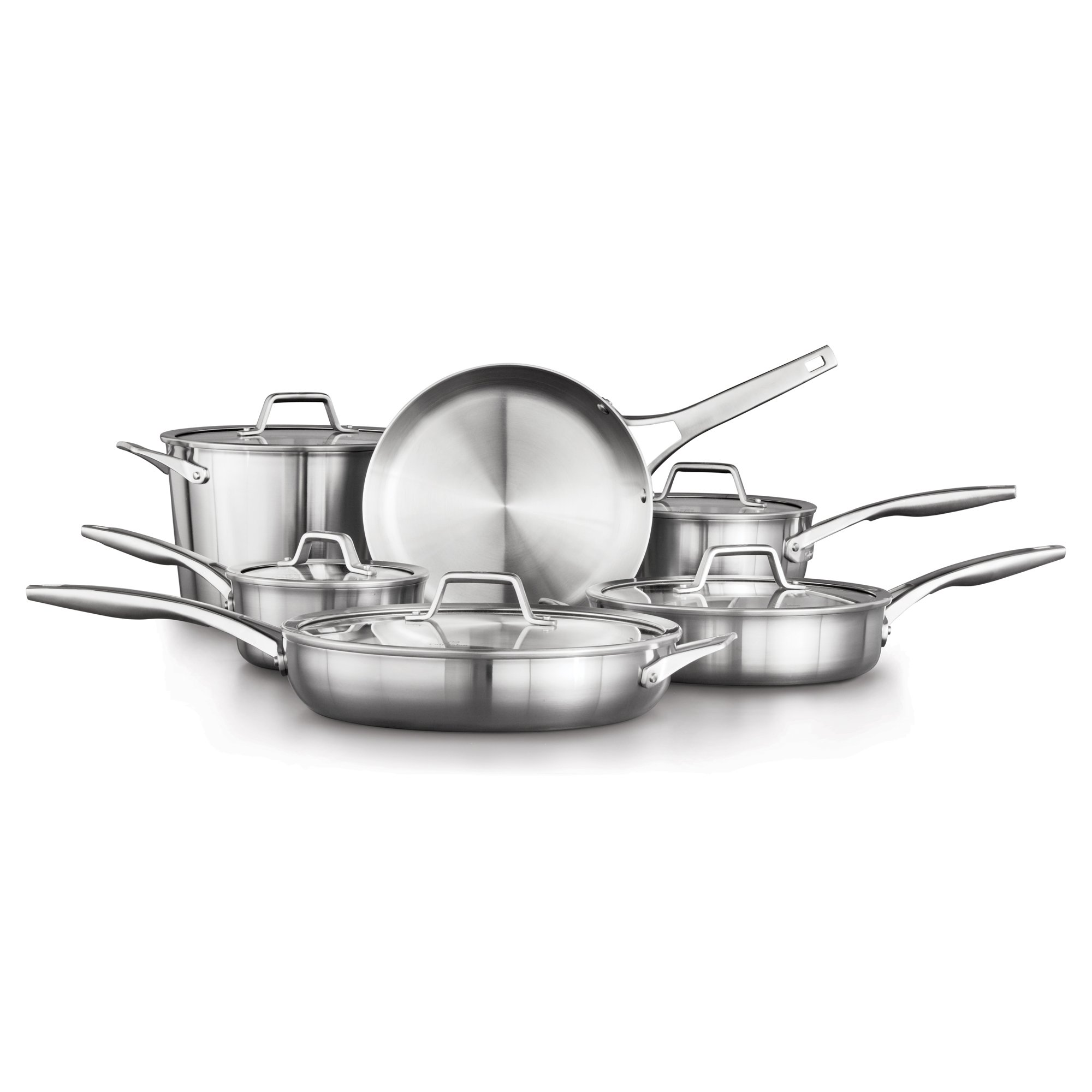 Calphalon Premier Stainless Steel 11-Piece Cookware Set