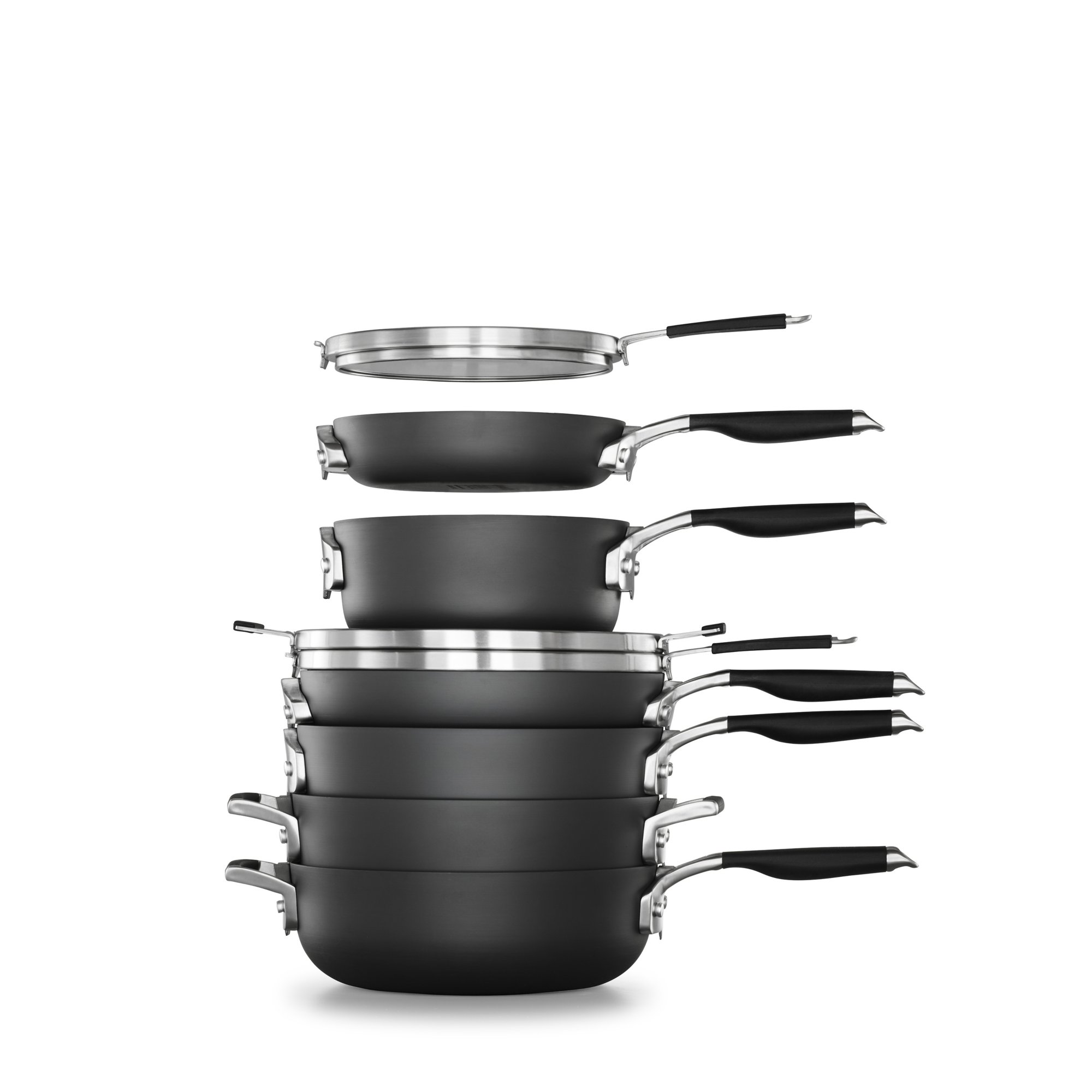 Select by Calphalon Space Saving Hard-Anodized Nonstick 9-Piece Cookware Set