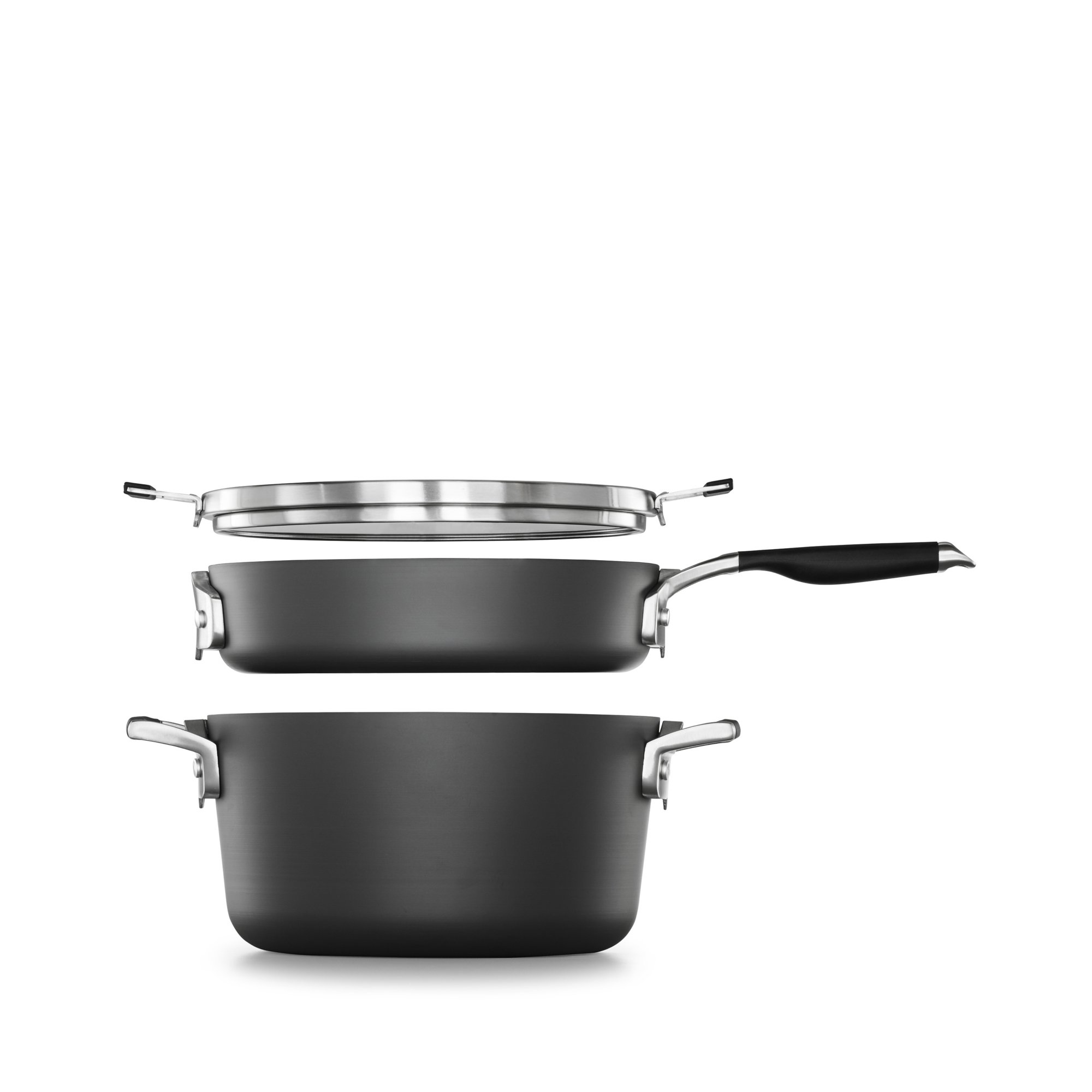 Select by Calphalon Space Saving Hard-Anodized Nonstick 5-Piece Pasta Cookware Set