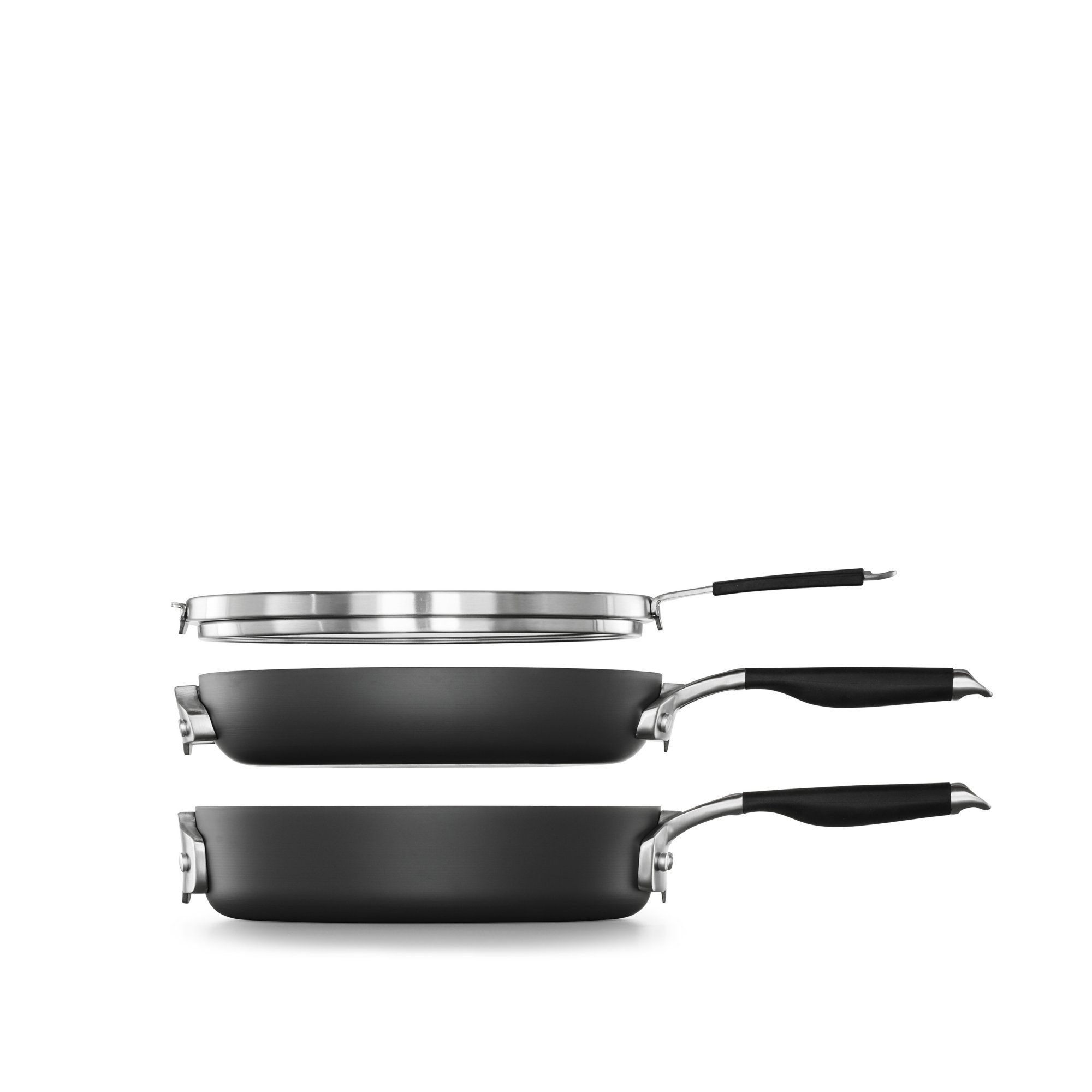 Select by Calphalon Space Saving Hard-Anodized Nonstick 3-Piece Cookware Set