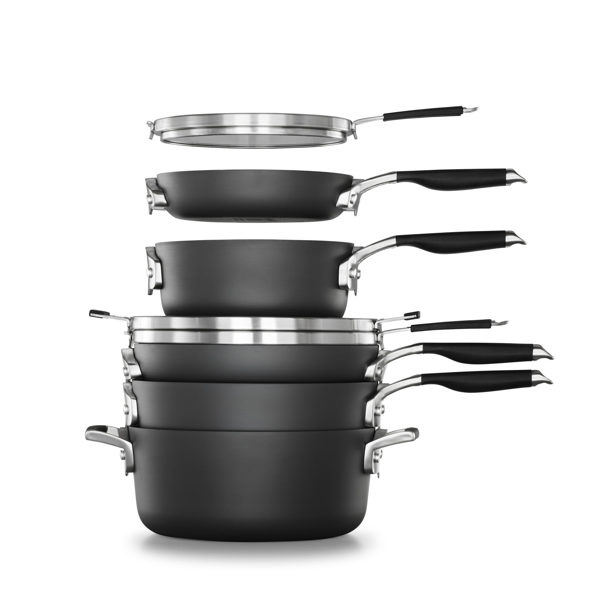 Select by Calphalon Space Saving Hard-Anodized Nonstick 11-Piece Cookware Set