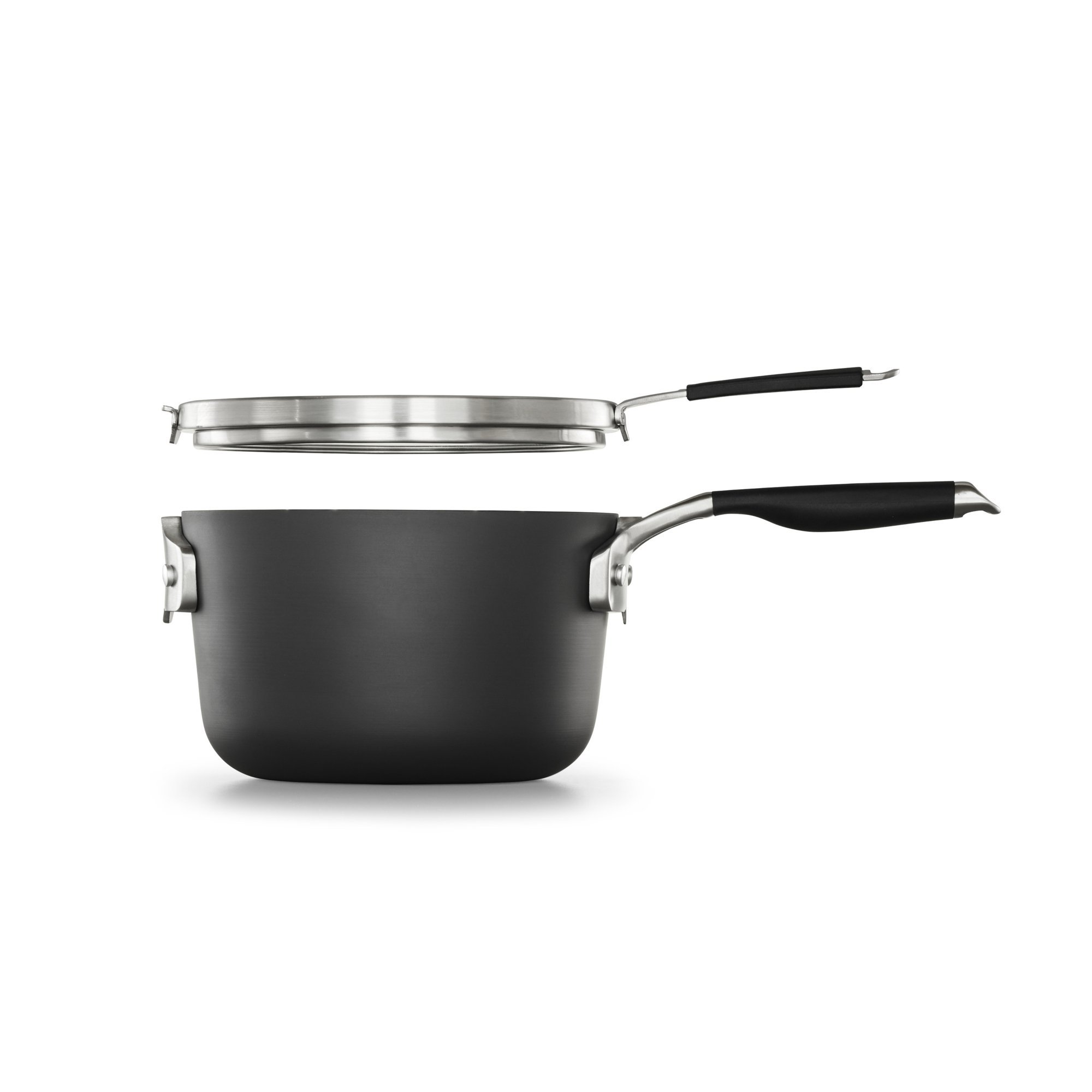 Select by Calphalon Space Saving Hard-Anodized Nonstick 3.5-Quart Sauce Pan with Cover