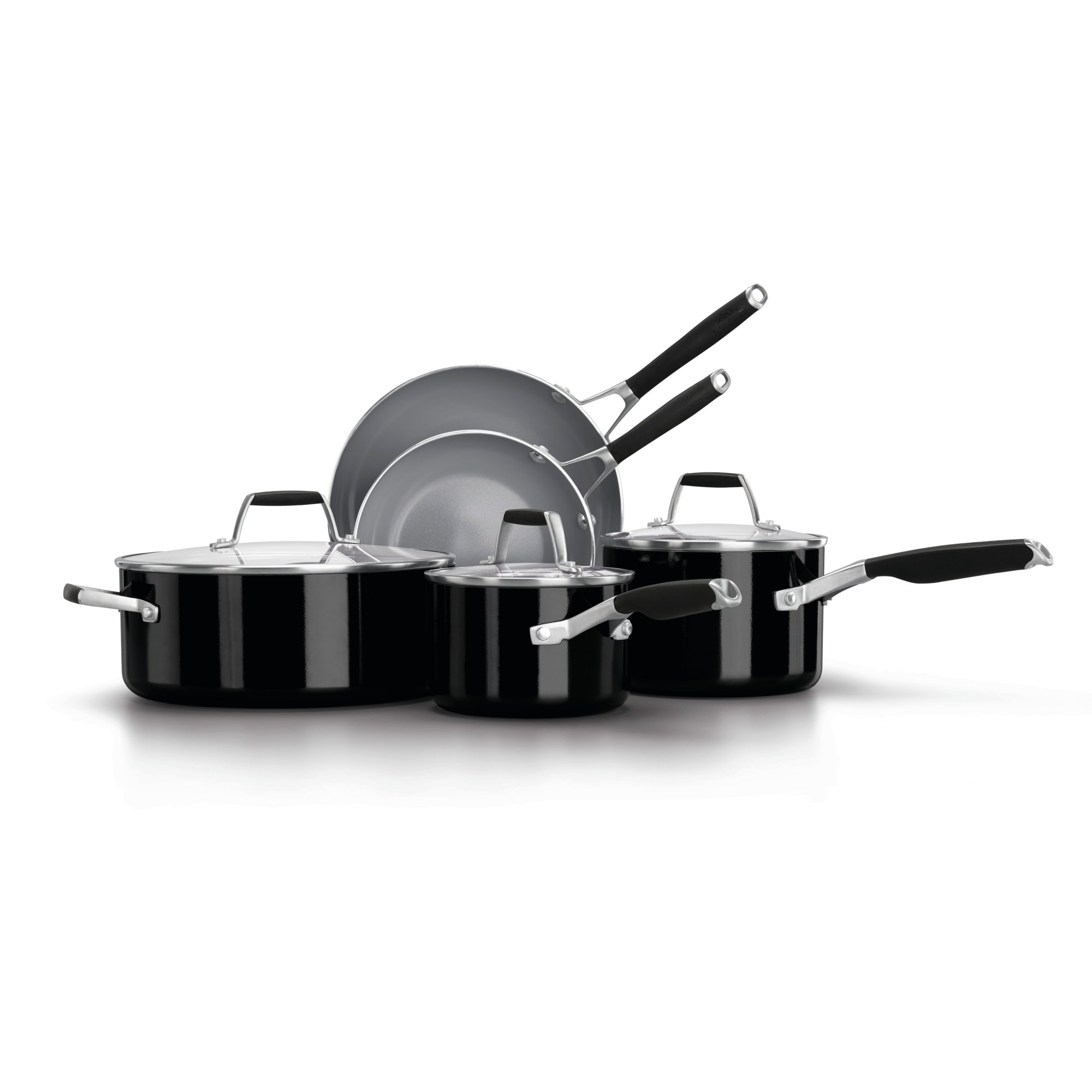 Select by Calphalon Oil Infused Ceramic 8- Piece Cookware Set