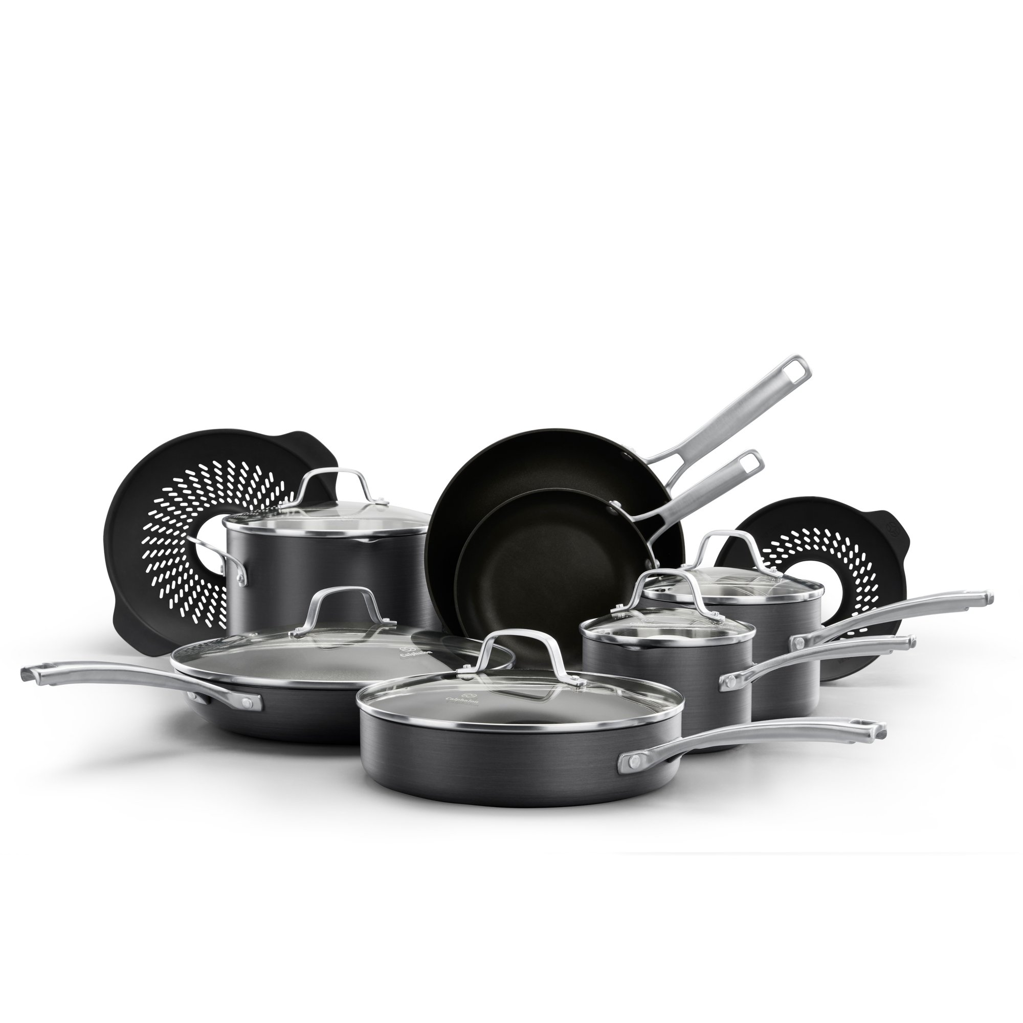 Calphalon Classic™ Nonstick 14-Piece Cookware Set with No-Boil-Over Inserts