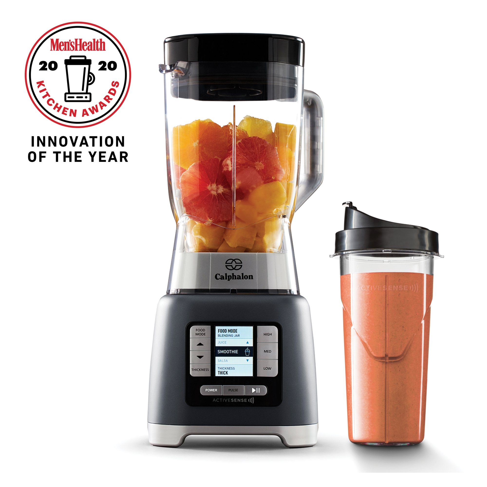 Calphalon ActiveSense™ Blender with Blend-N-Go Cup, Dark Stainless Steel
