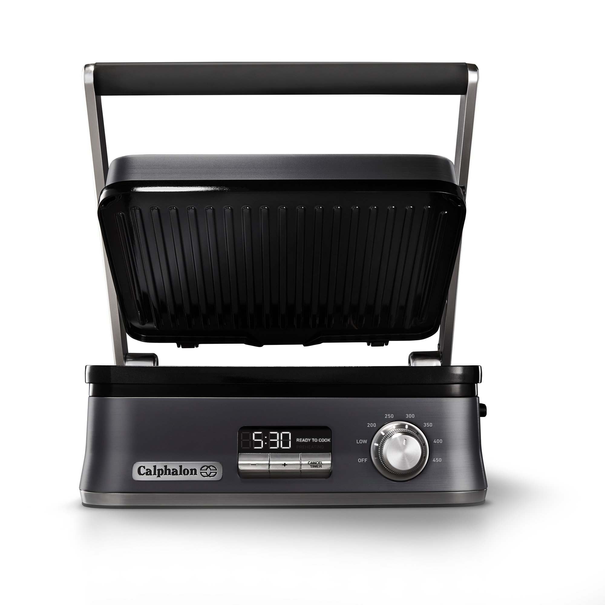 Calphalon Even Sear Multi-Grill, Dark Stainless Steel