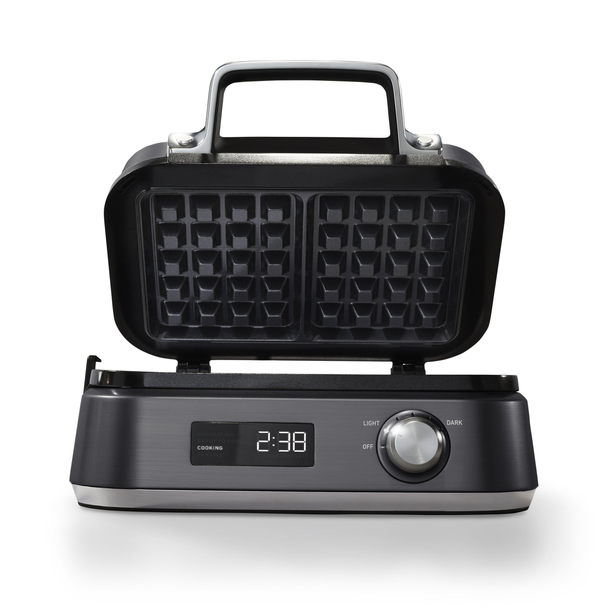 Calphalon IntelliCrisp™ Waffle Maker, Dark Stainless Steel