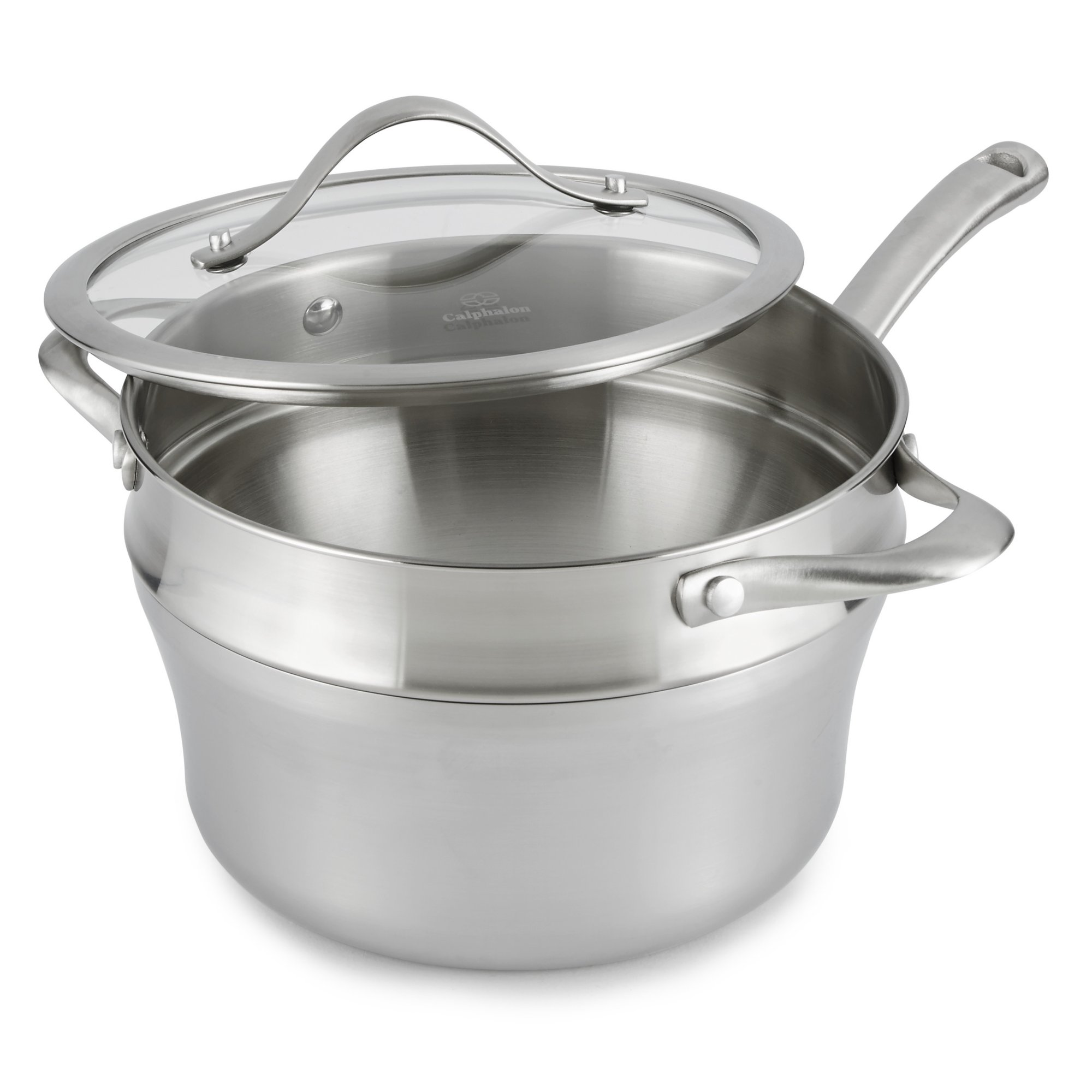 Calphalon Contemporary Stainless Steel 2.5-Quart Sauce and Double Boiler